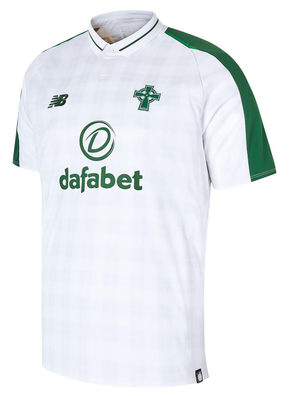 New Balance Celtic Fc Away Short Sleeve Jersey in White for Men ... 53760c124