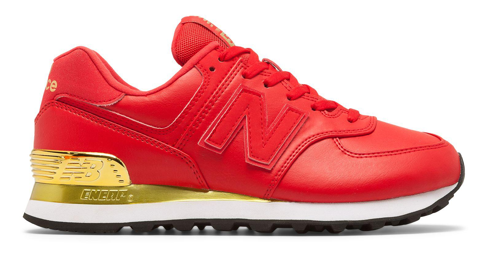 New Balance Rubber 574 Gold Dip in Red - Lyst