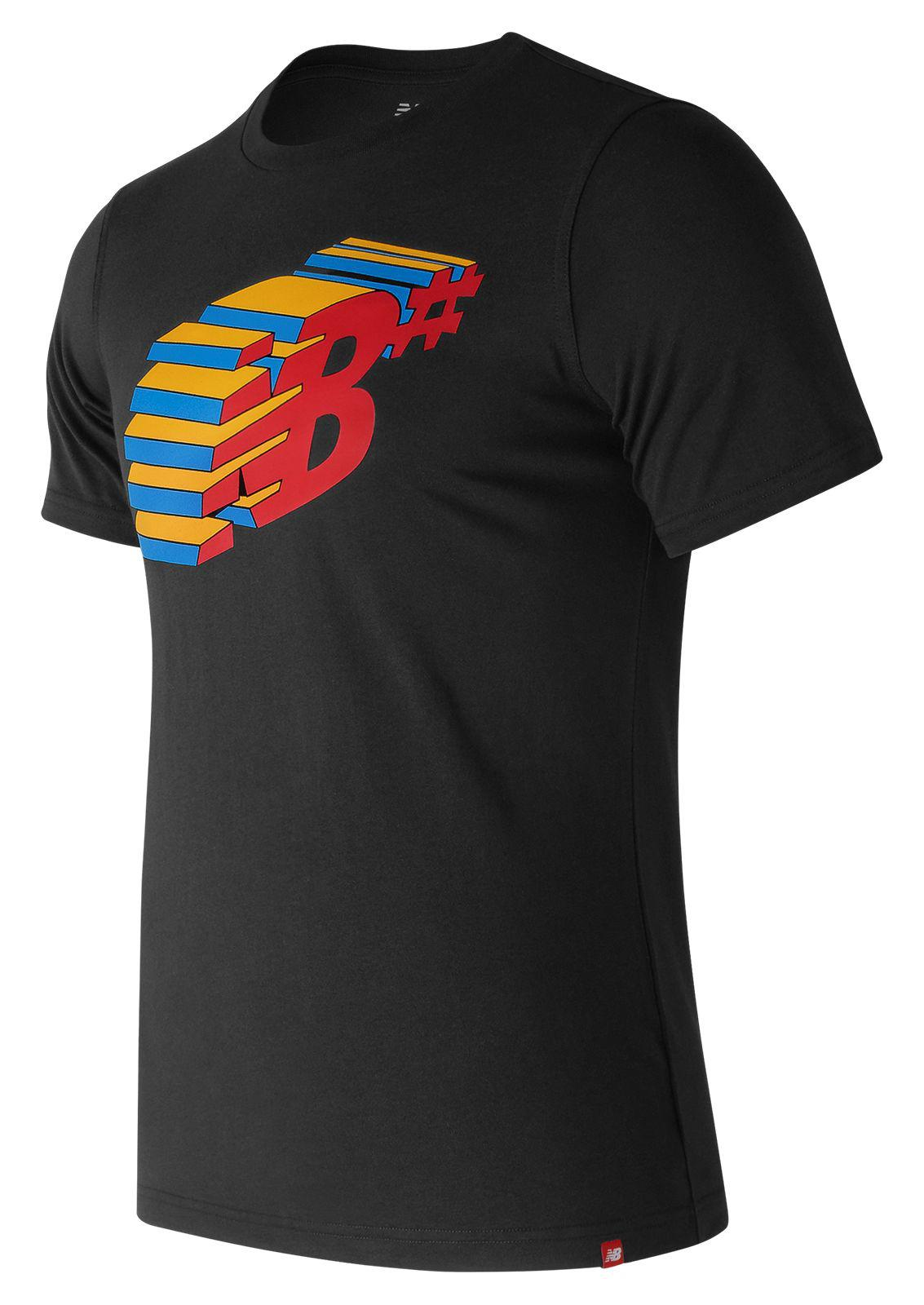f1001a00e8c09 Lyst - New Balance Nb Numeric Console Tee in Black for Men