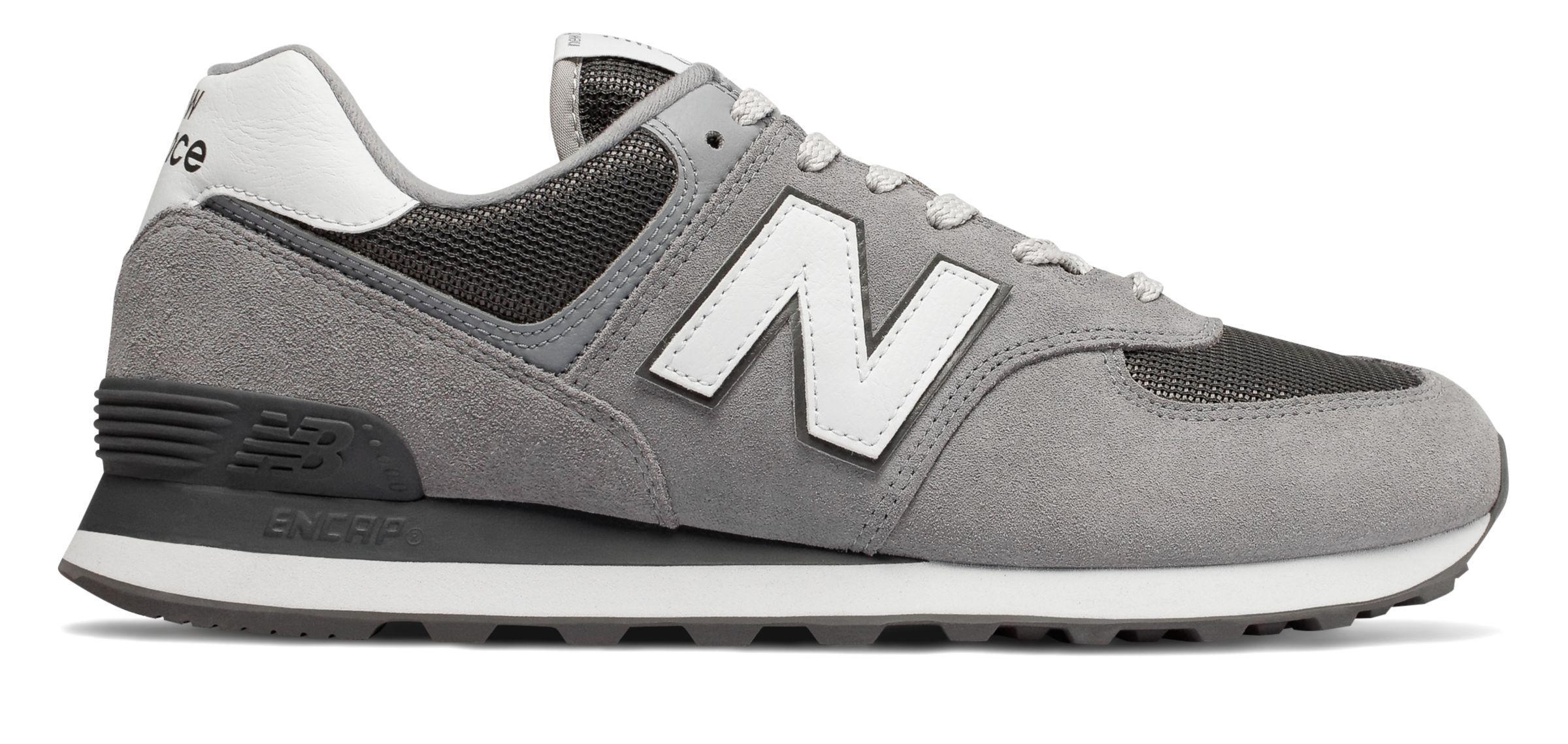 reputable site 6705d 3594c Men's Gray New Balance 574 Shoes
