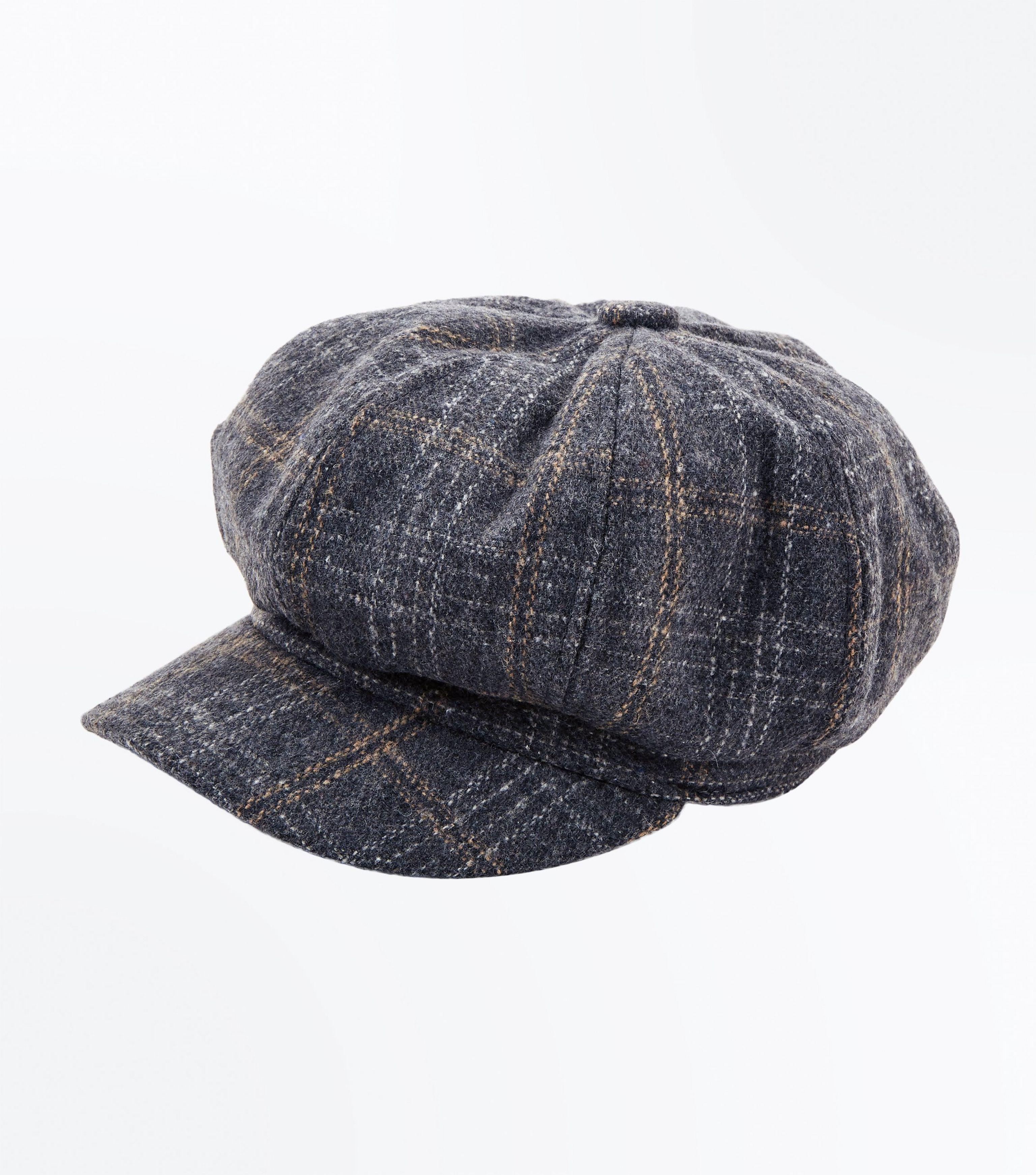 34c3e0531a696 New Look Grey Check Baker Boy Hat in Gray for Men - Lyst
