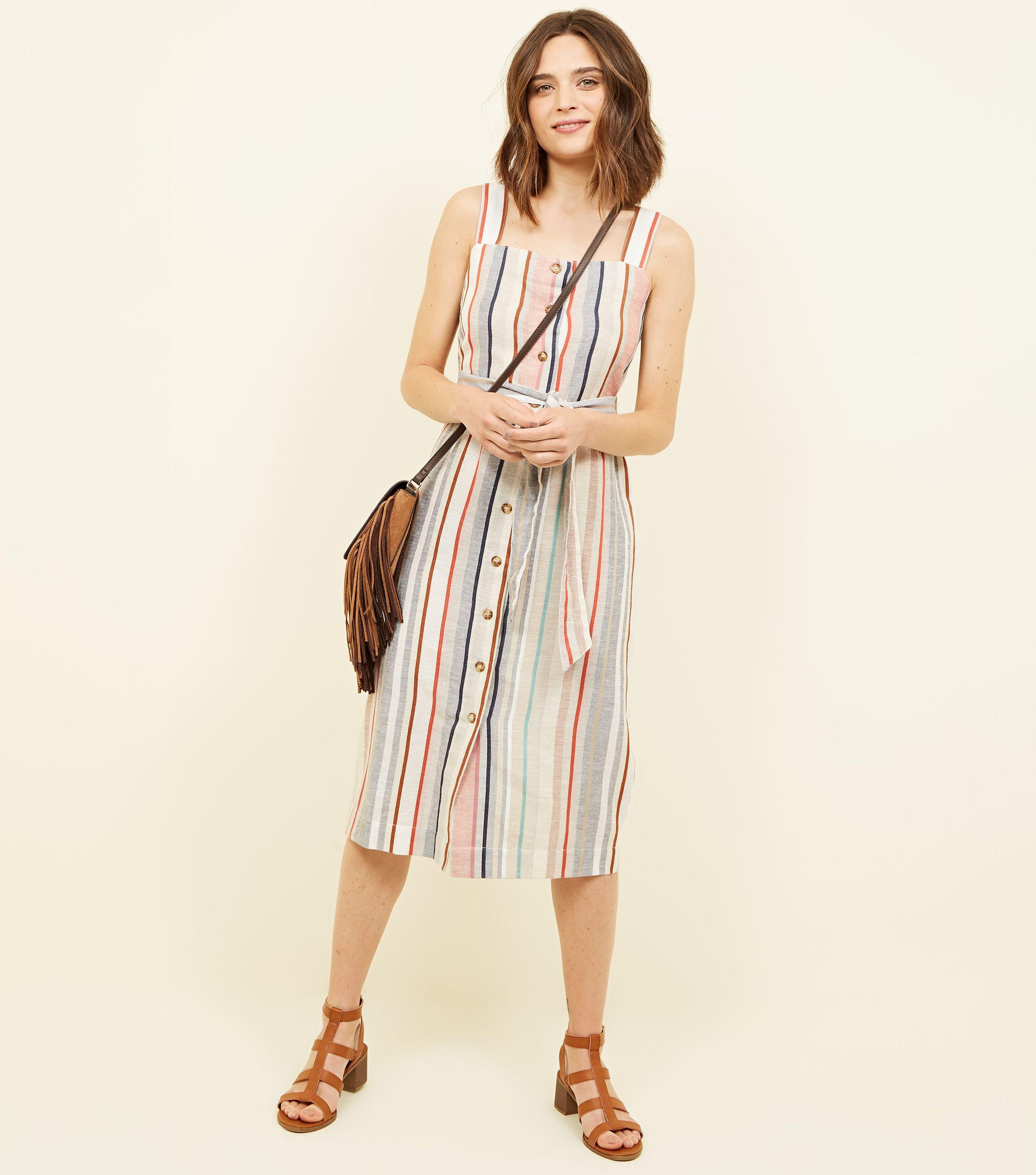 e1c68fc5ba Gallery. Previously sold at  New Look · Women s White Dresses Women s White  Linen ...