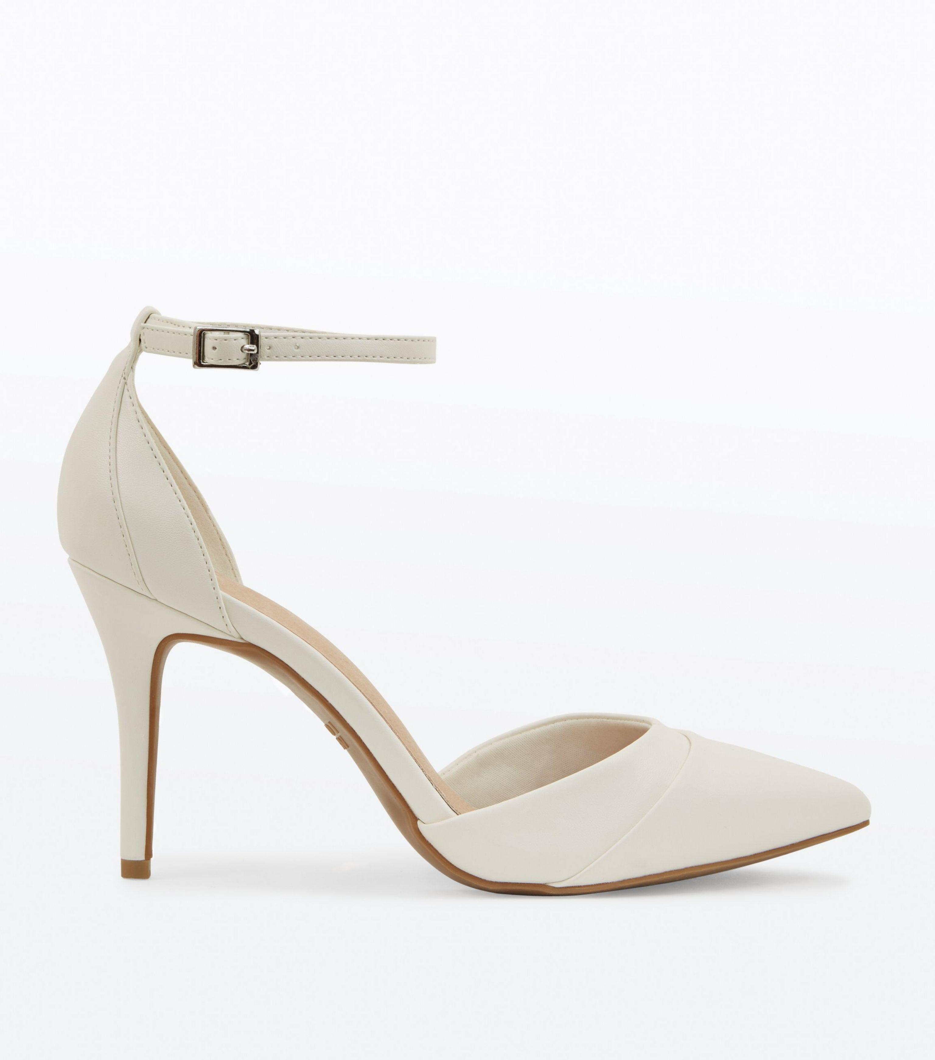871e5bf88b29 New Look White Comfort Flex Ankle Strap Pointed Heels in White - Lyst