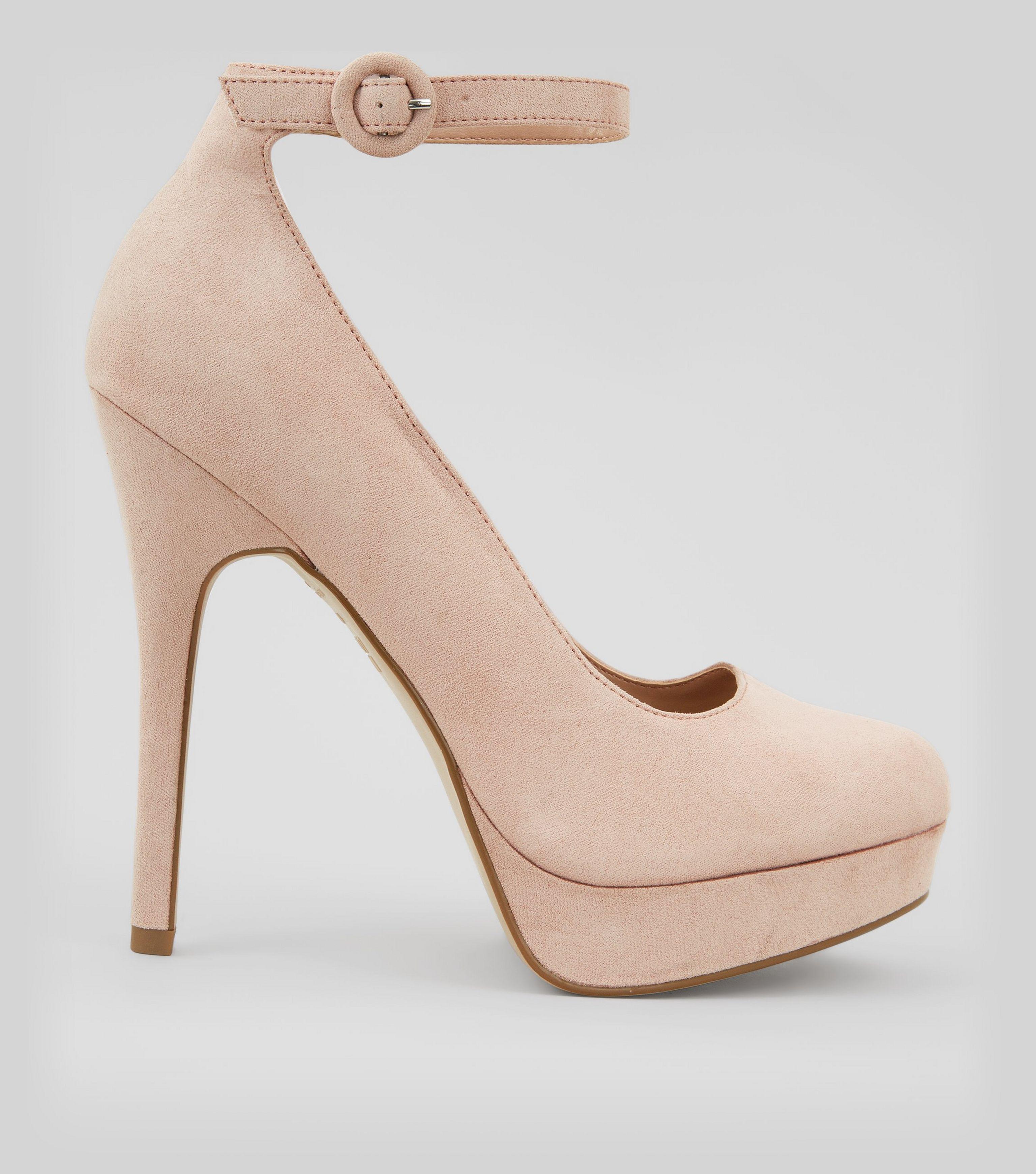 e5d8a4cc99a New Look Pink Suedette Platform Ankle Strap Heels