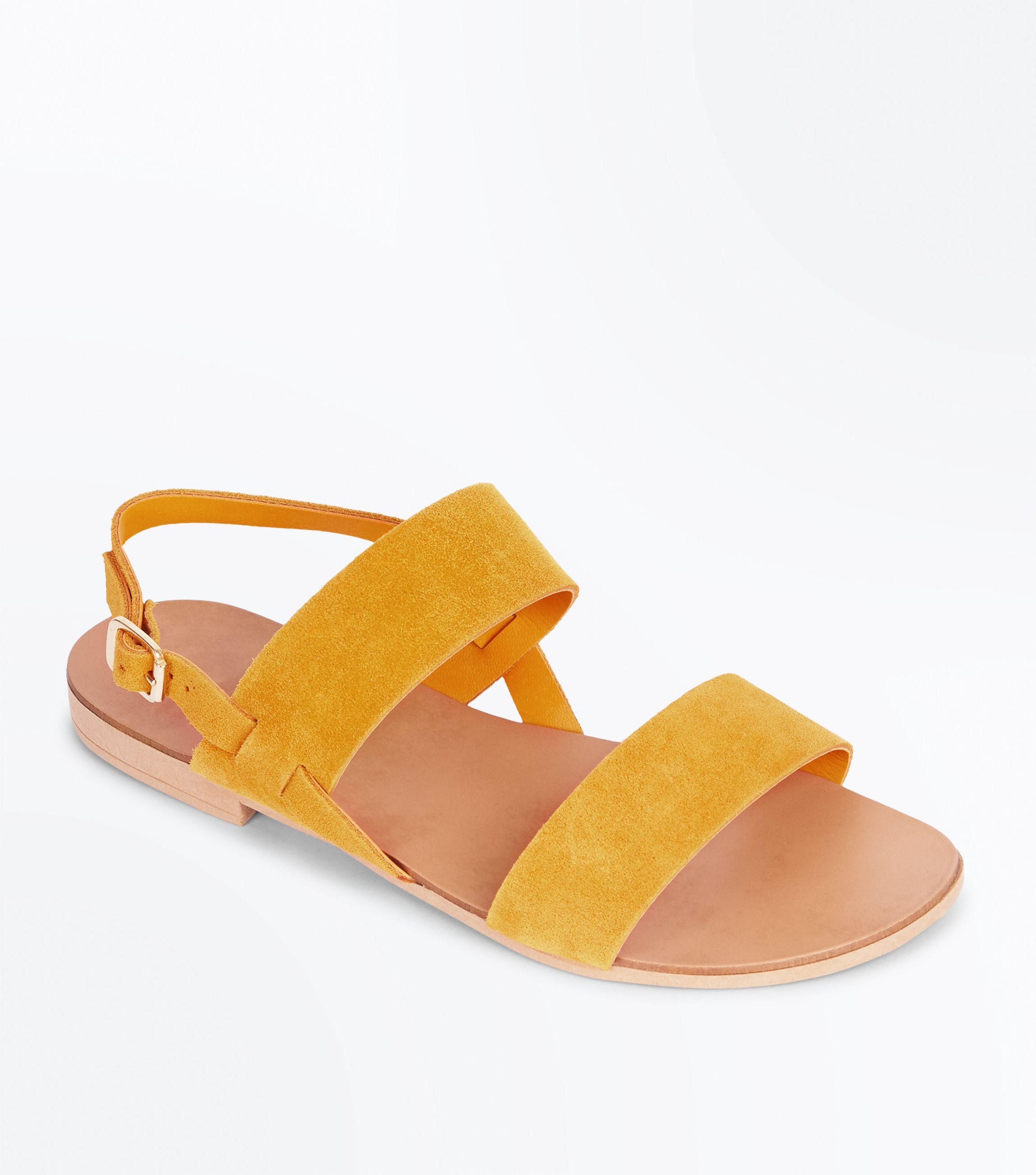 New Look Wide Fit Mustard Suede Double