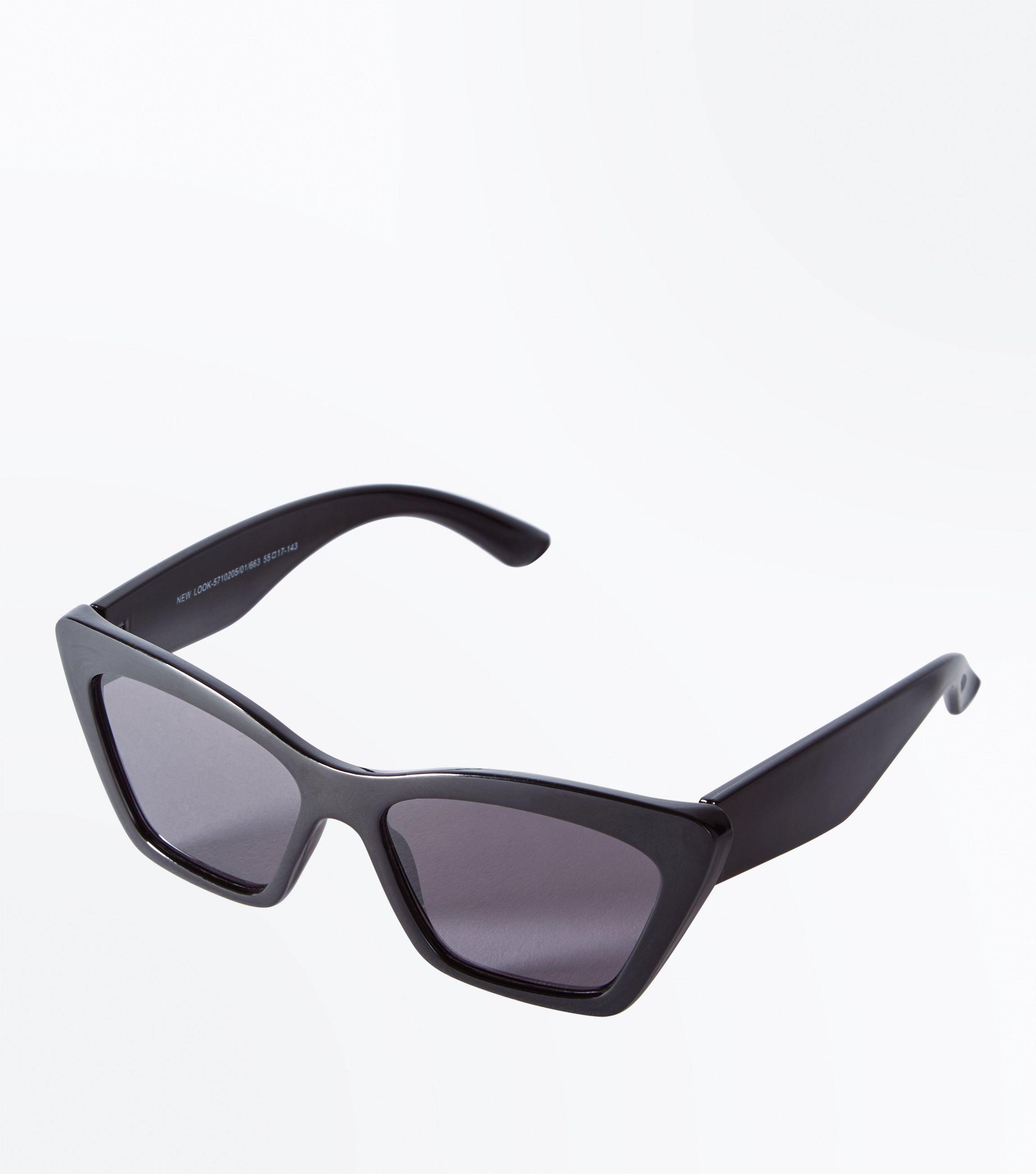 Gafas De Sol De Gran Tamaño Angulares - Nuevo Look Negro lZiPAS