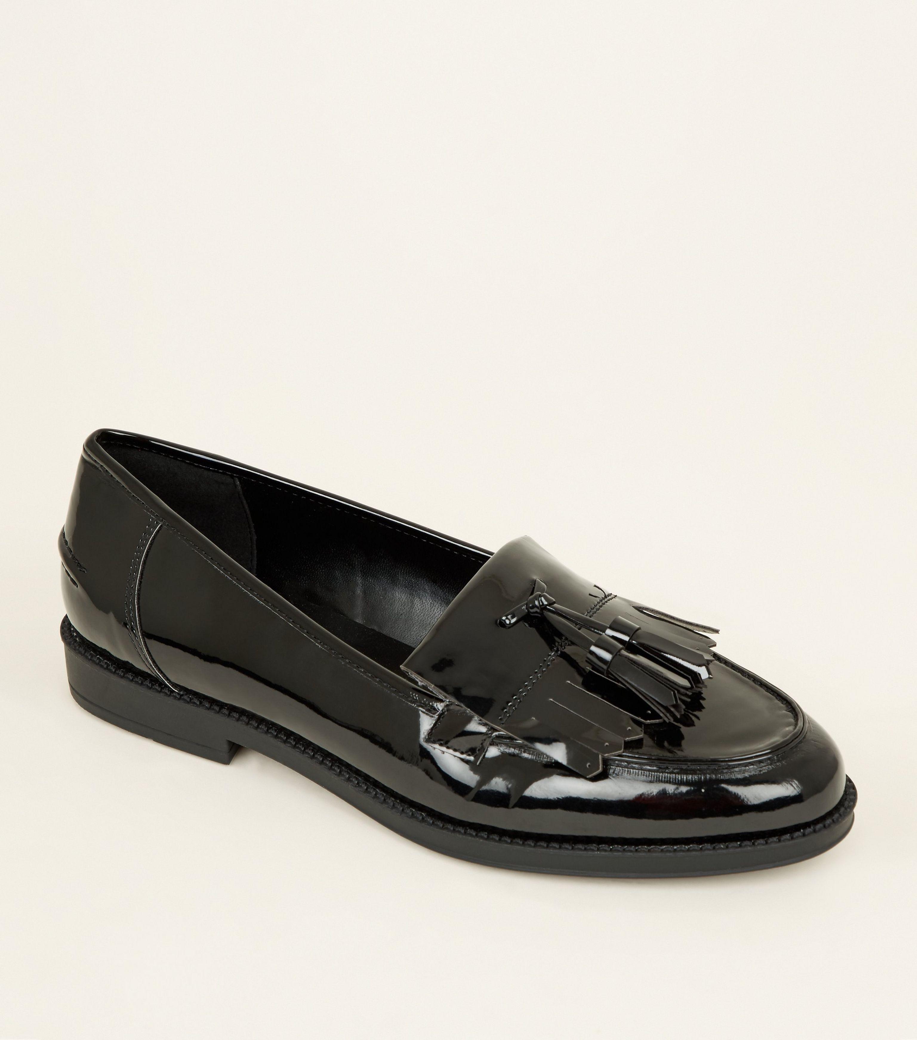 479c427fc17 New Look Black Patent Tassel Loafers in Black - Lyst