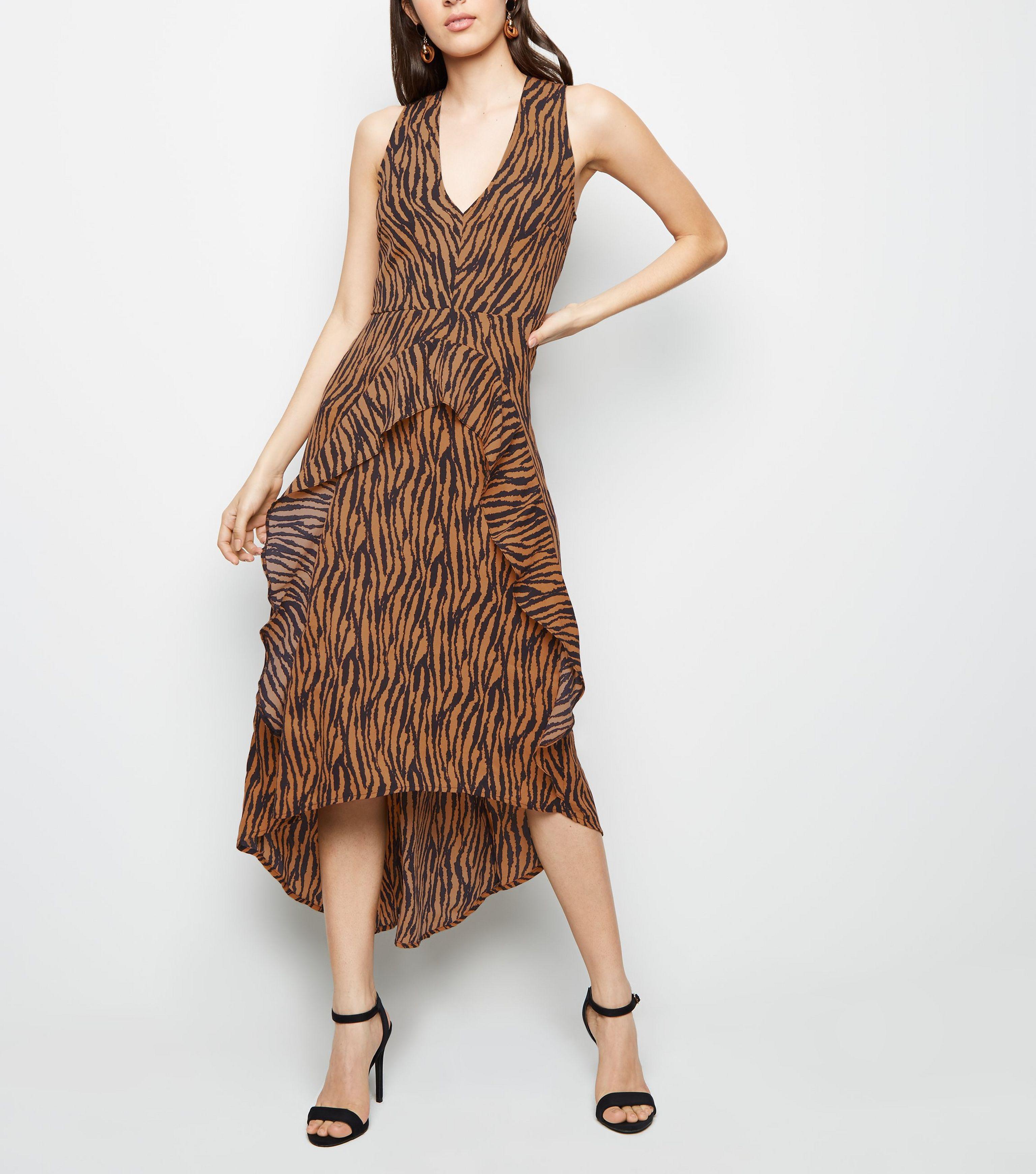 AX Paris. Women s Brown Tiger Print Dip Hem Midi Dress. £40 From New Look 60c6478d1