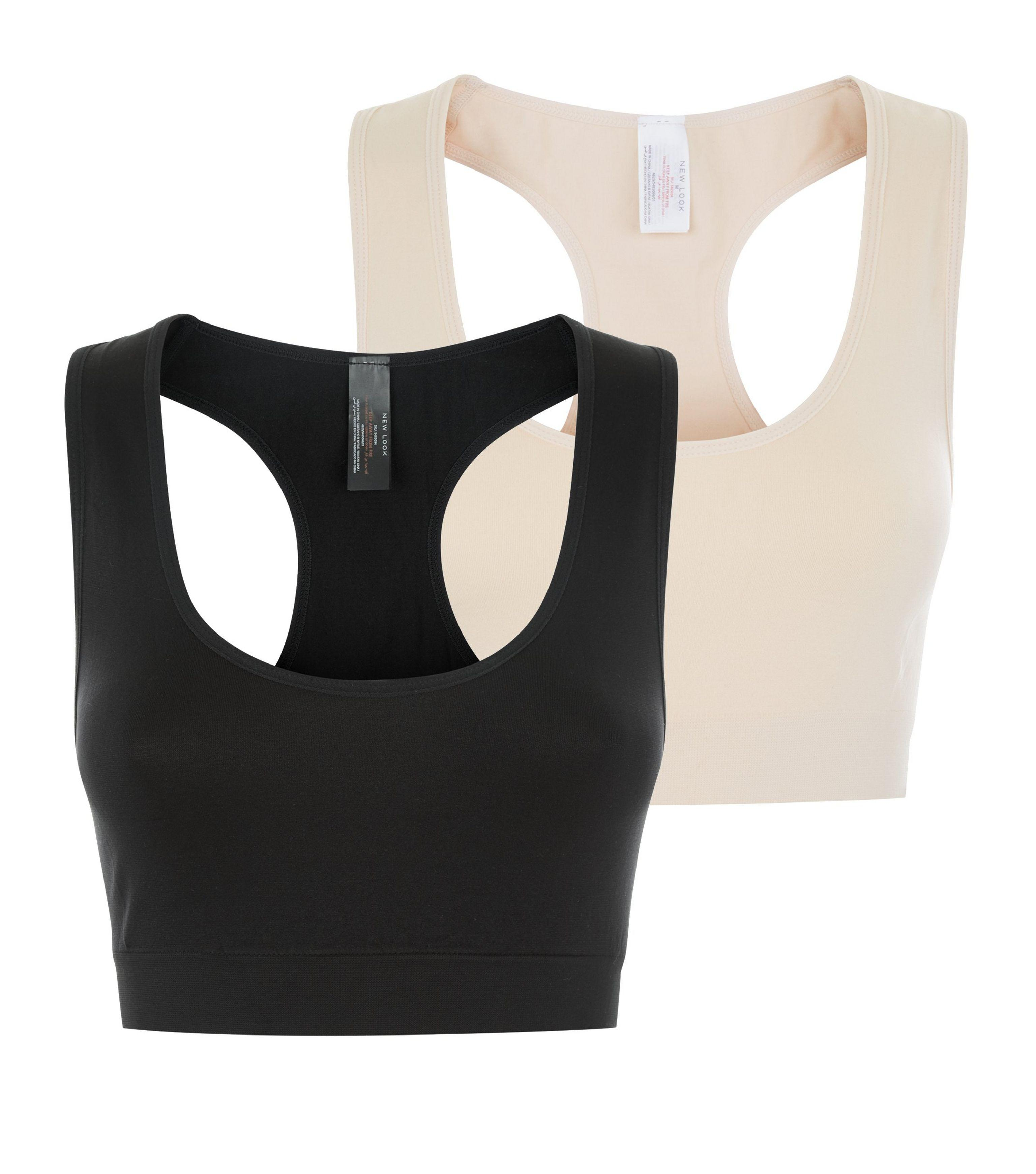 0e010536a9297 New Look - Maternity 2 Pack Black And Stone Bralets - Lyst. View fullscreen