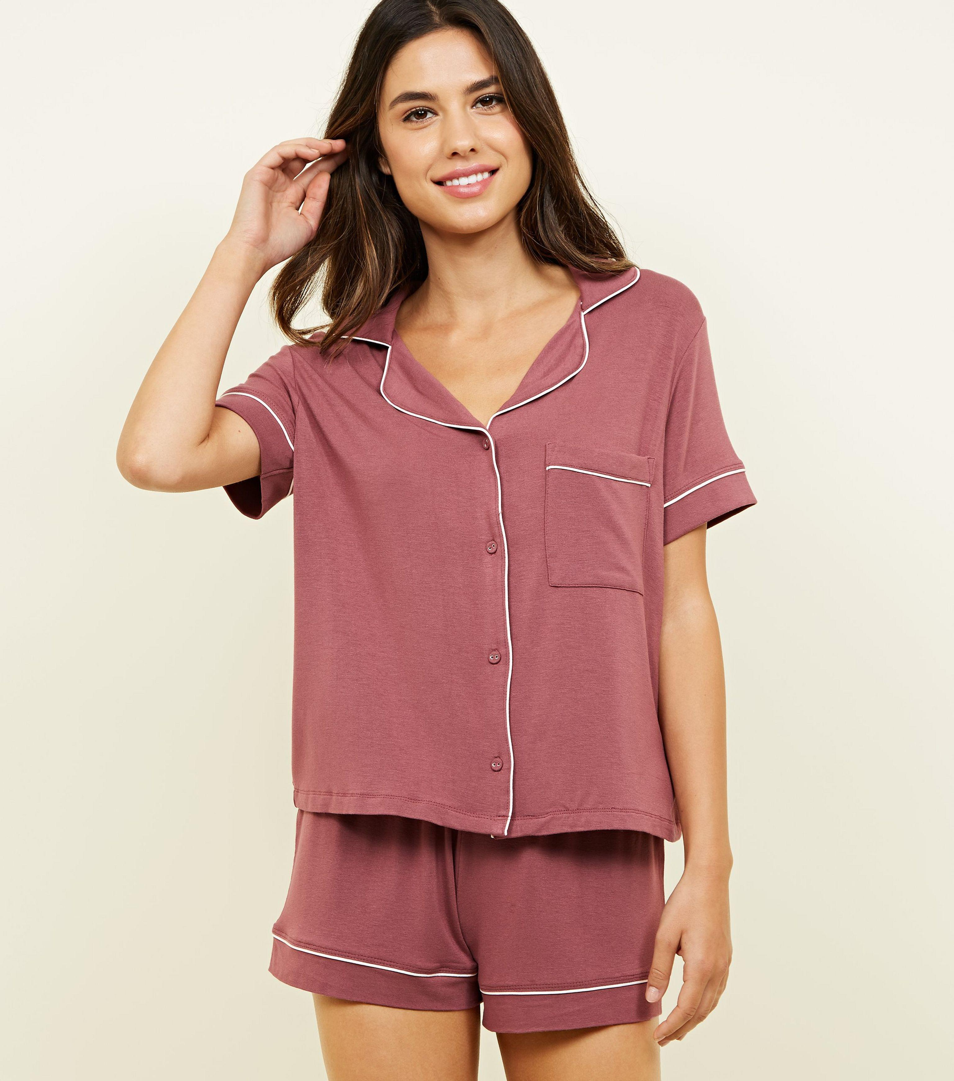975a5e3cba2 New Look Mid Pink Revere Collar Pyjama Set in Pink - Lyst