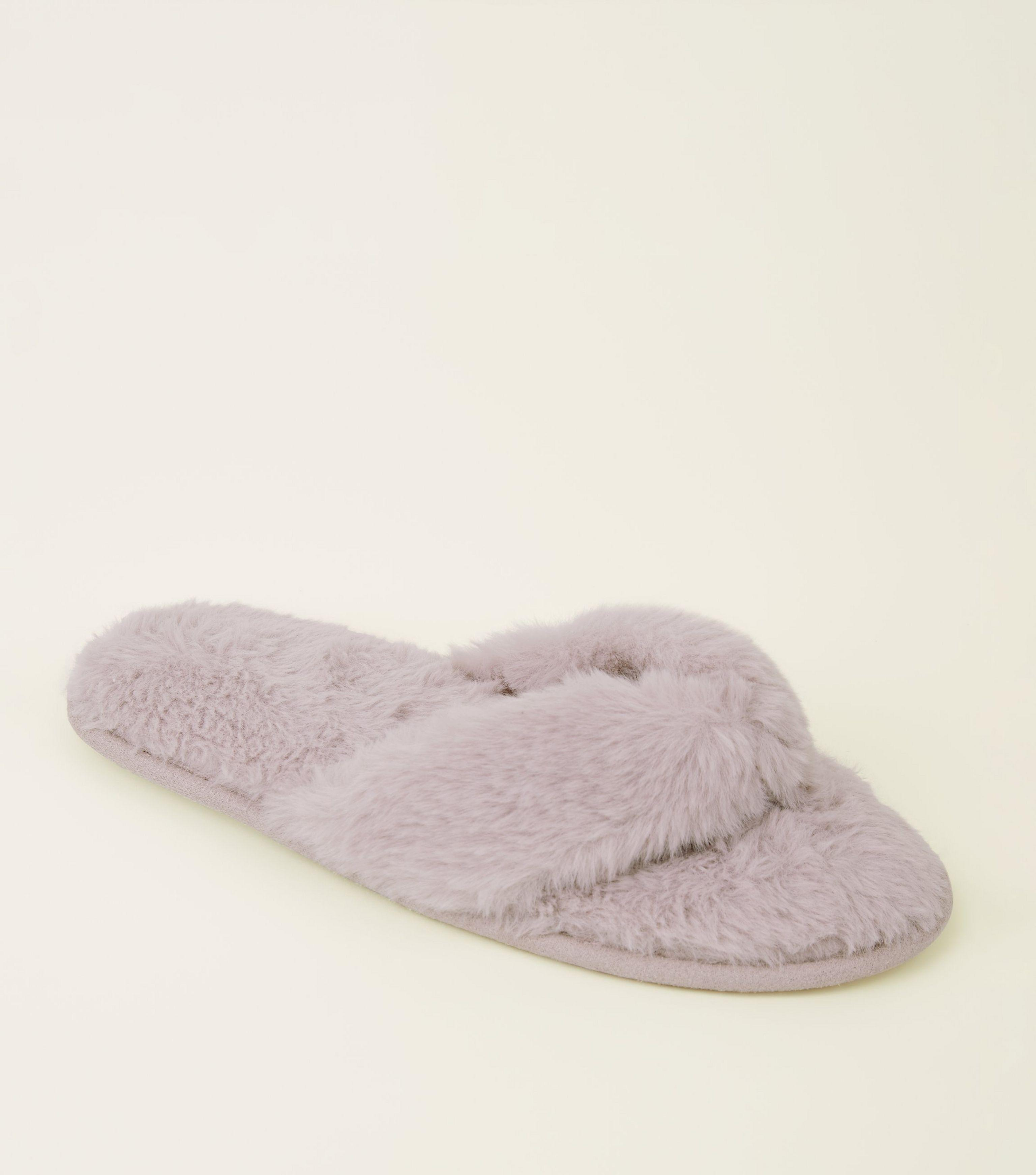 865f11b6dc0c New Look Pink Faux Fur Flip Flop in Pink - Lyst