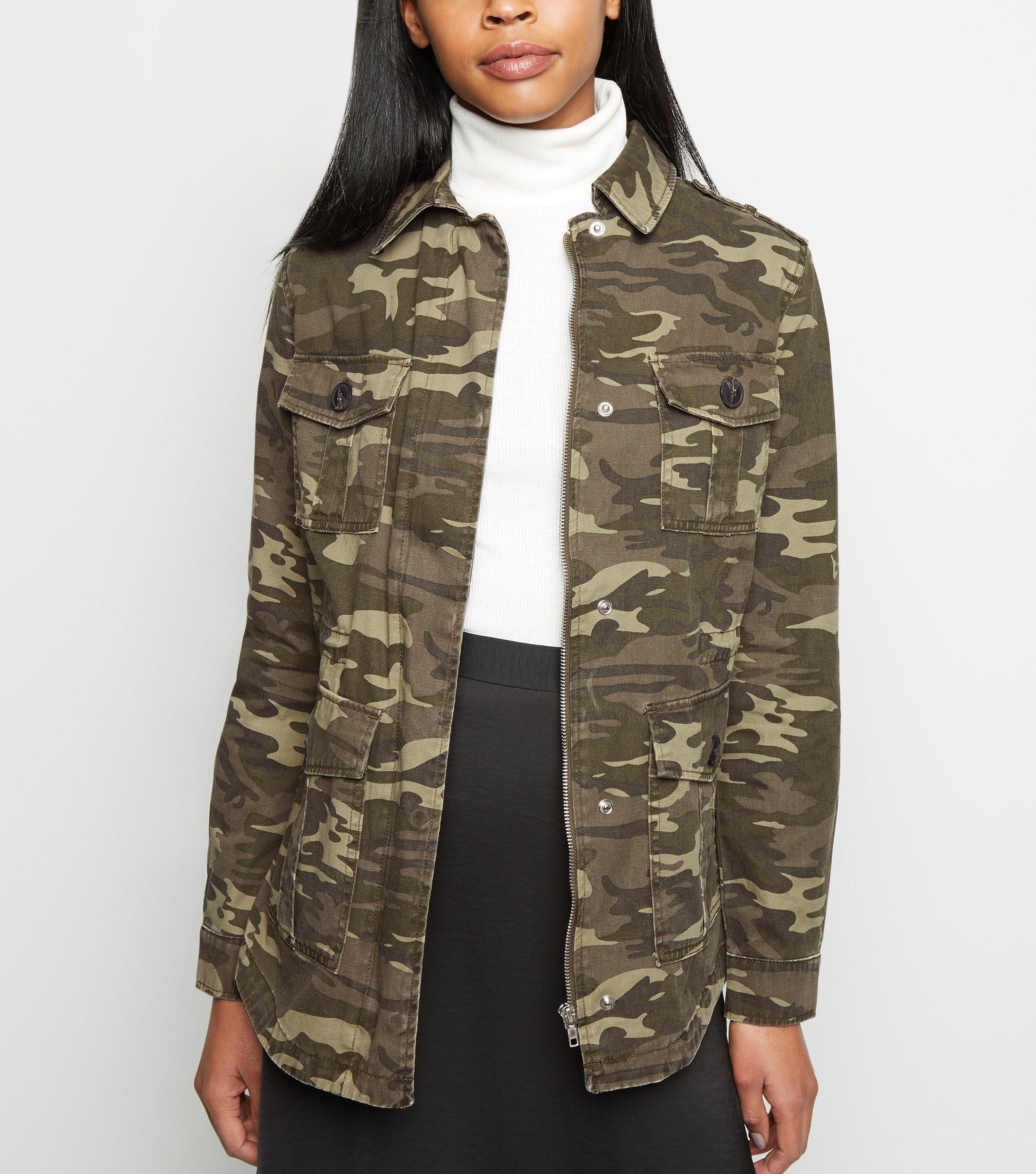 2cd93e15fd521 New Look Green Camo Print Utility Jacket in Green - Lyst