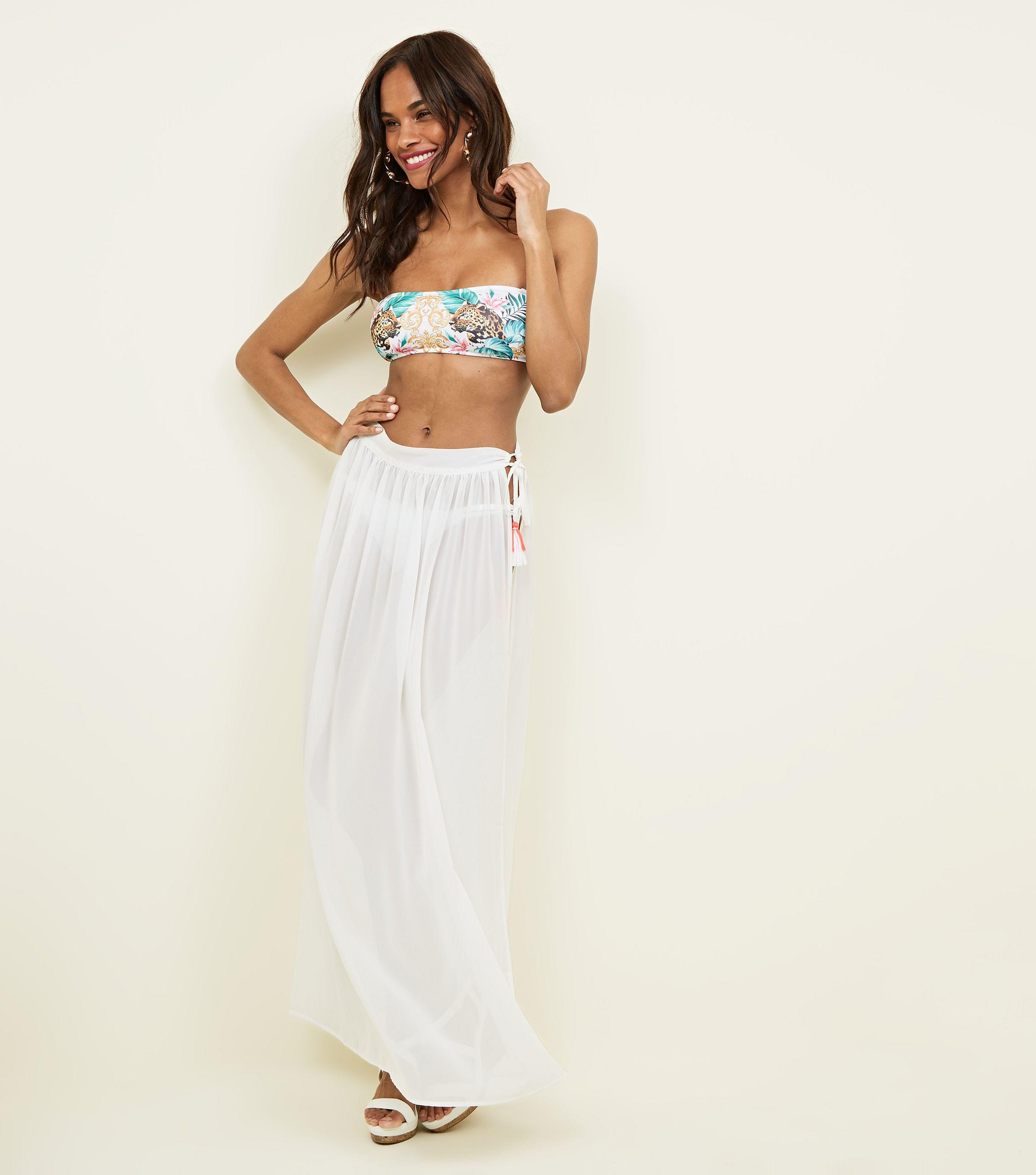 dc915edd76 New Look White Beach Tie Side Sarong in White - Lyst