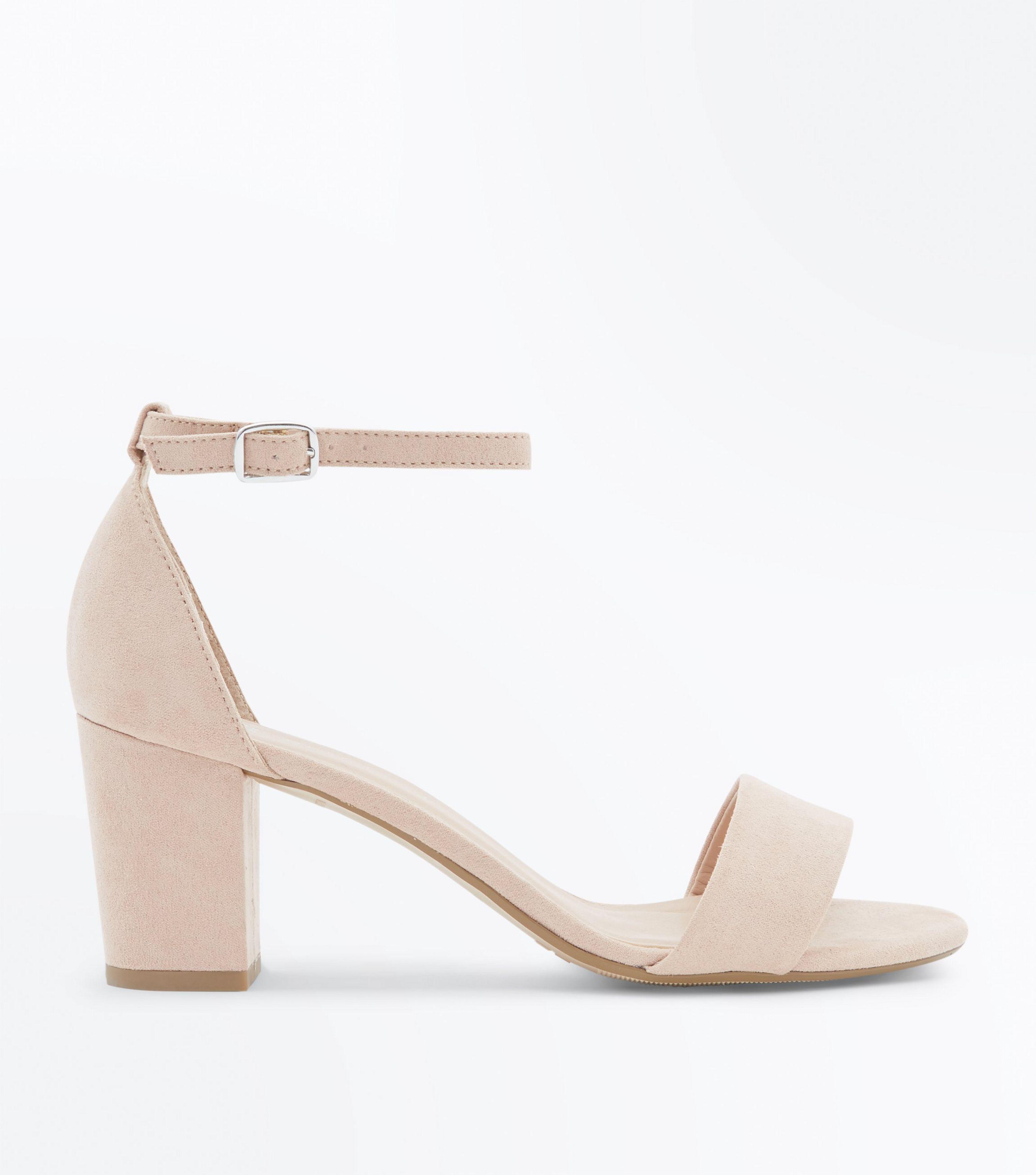 exquisite design outlet for sale special sales Girls Nude Suedette Mid Heel Sandals
