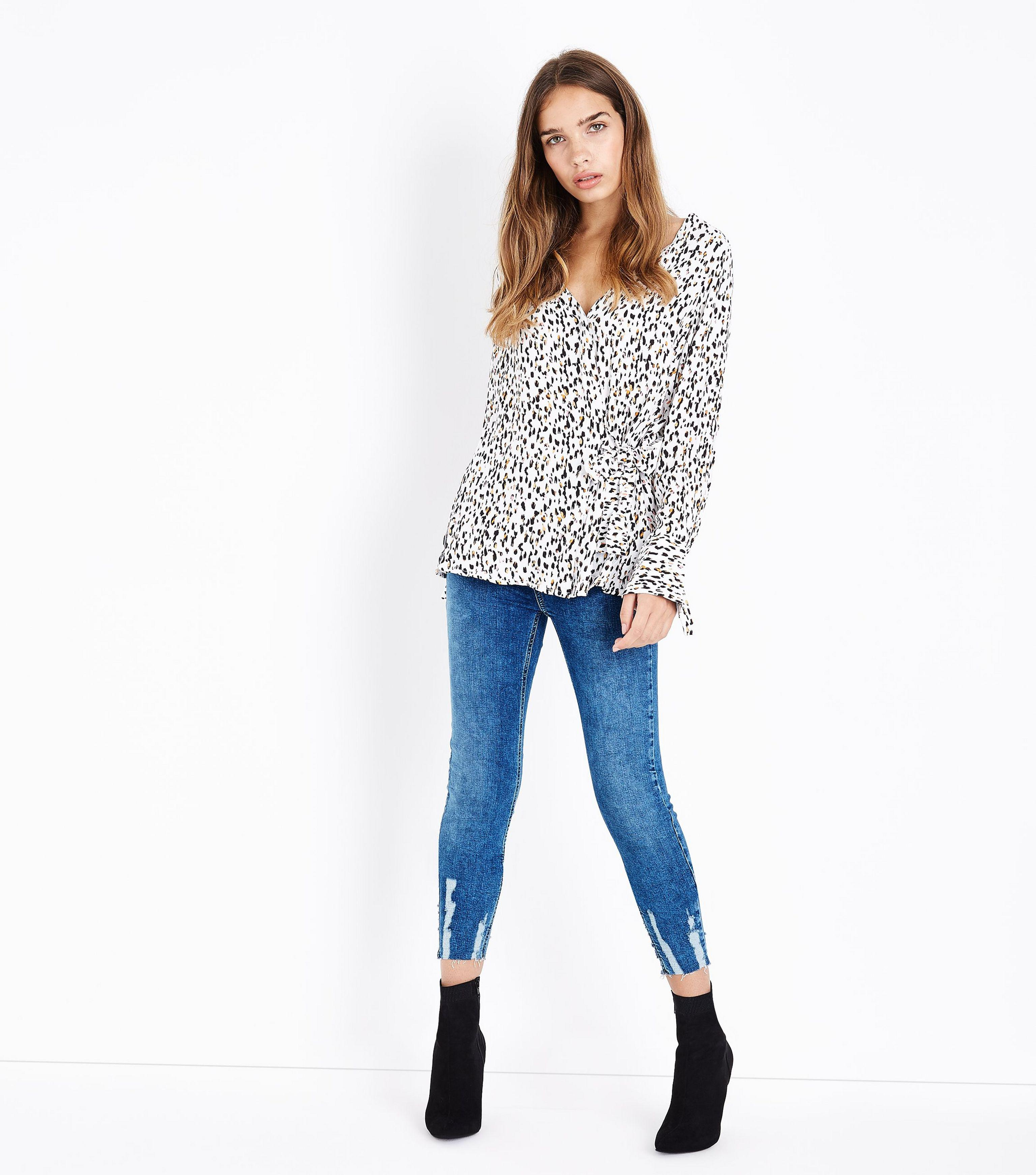 Jenna Fray Hem Skinny Jean - Blue New Look klV1JTcg