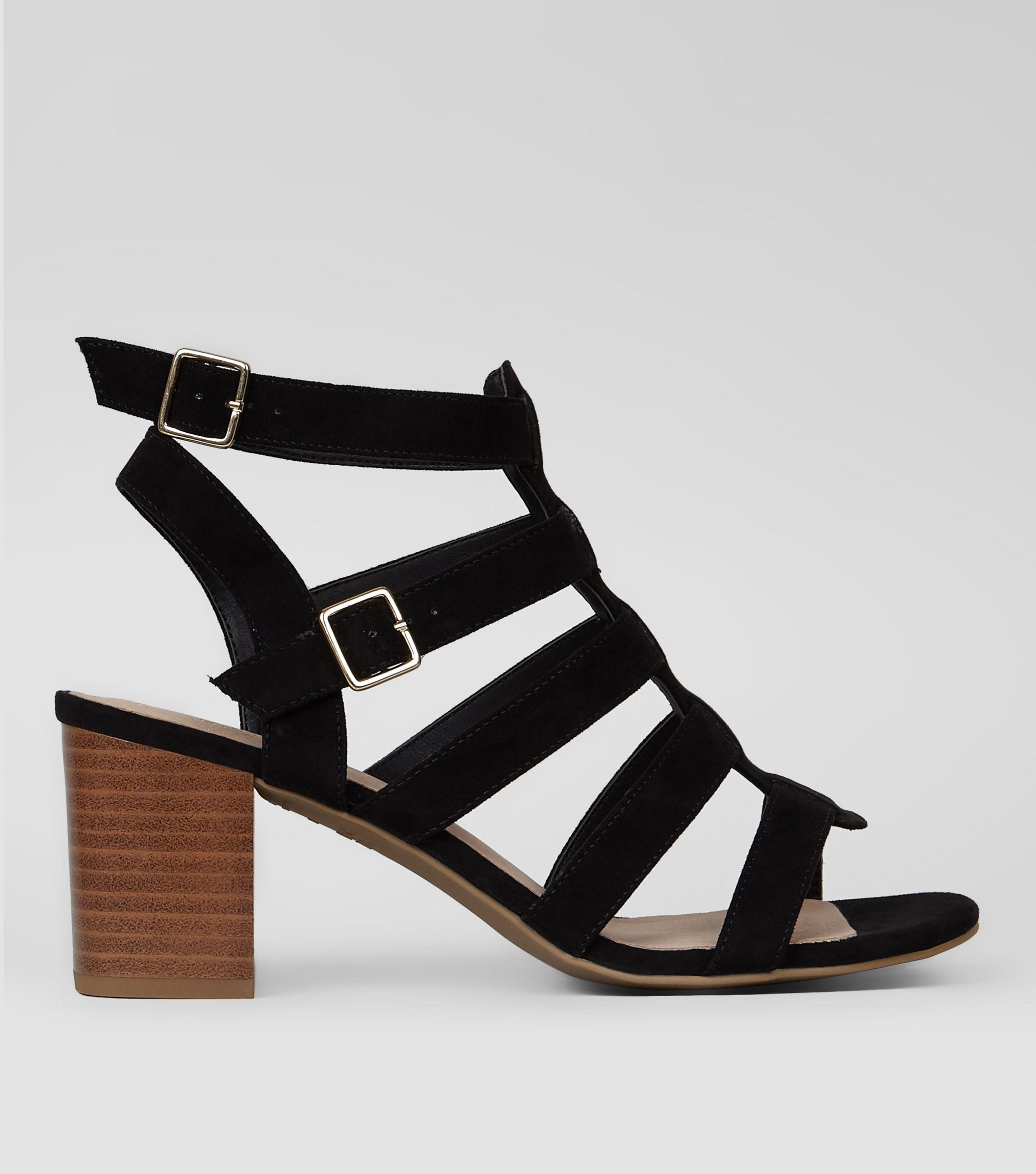 new look svart gladiator sandaler