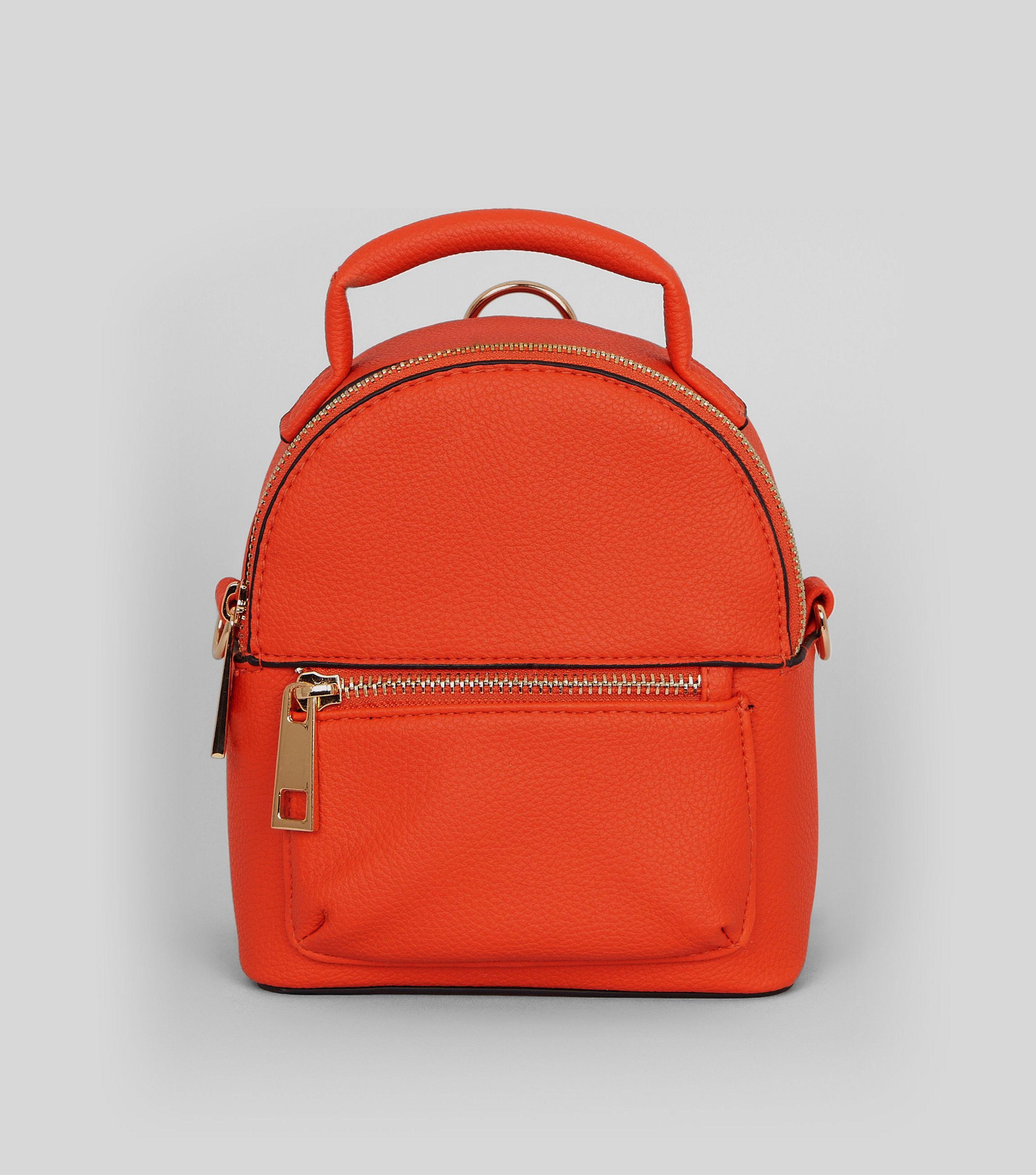 limited guantity clear and distinctive attractive colour Orange Mini Backpack