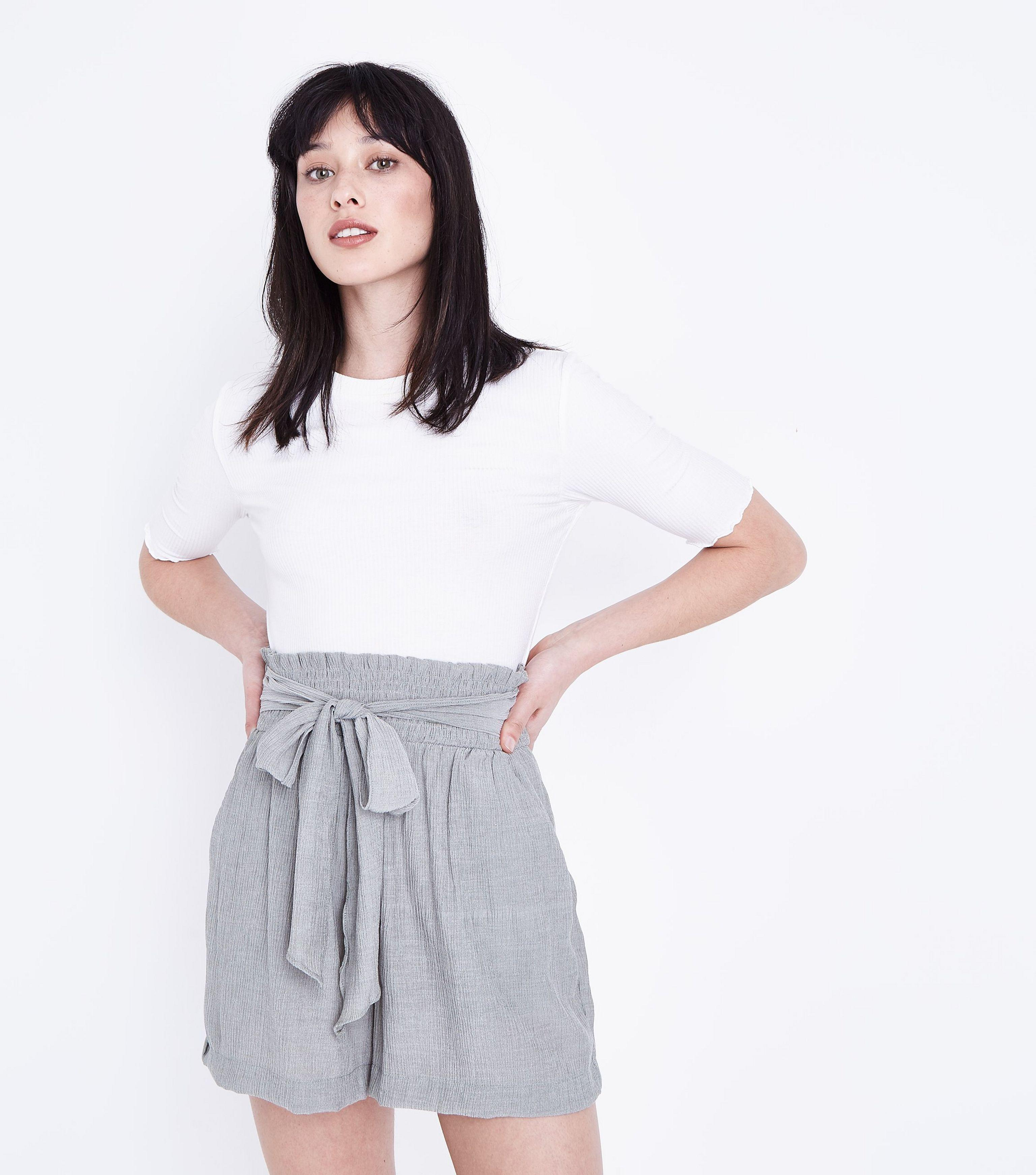 replicas crazy price info for New Look Olive Crepe Tie Waist Shorts in Green - Lyst
