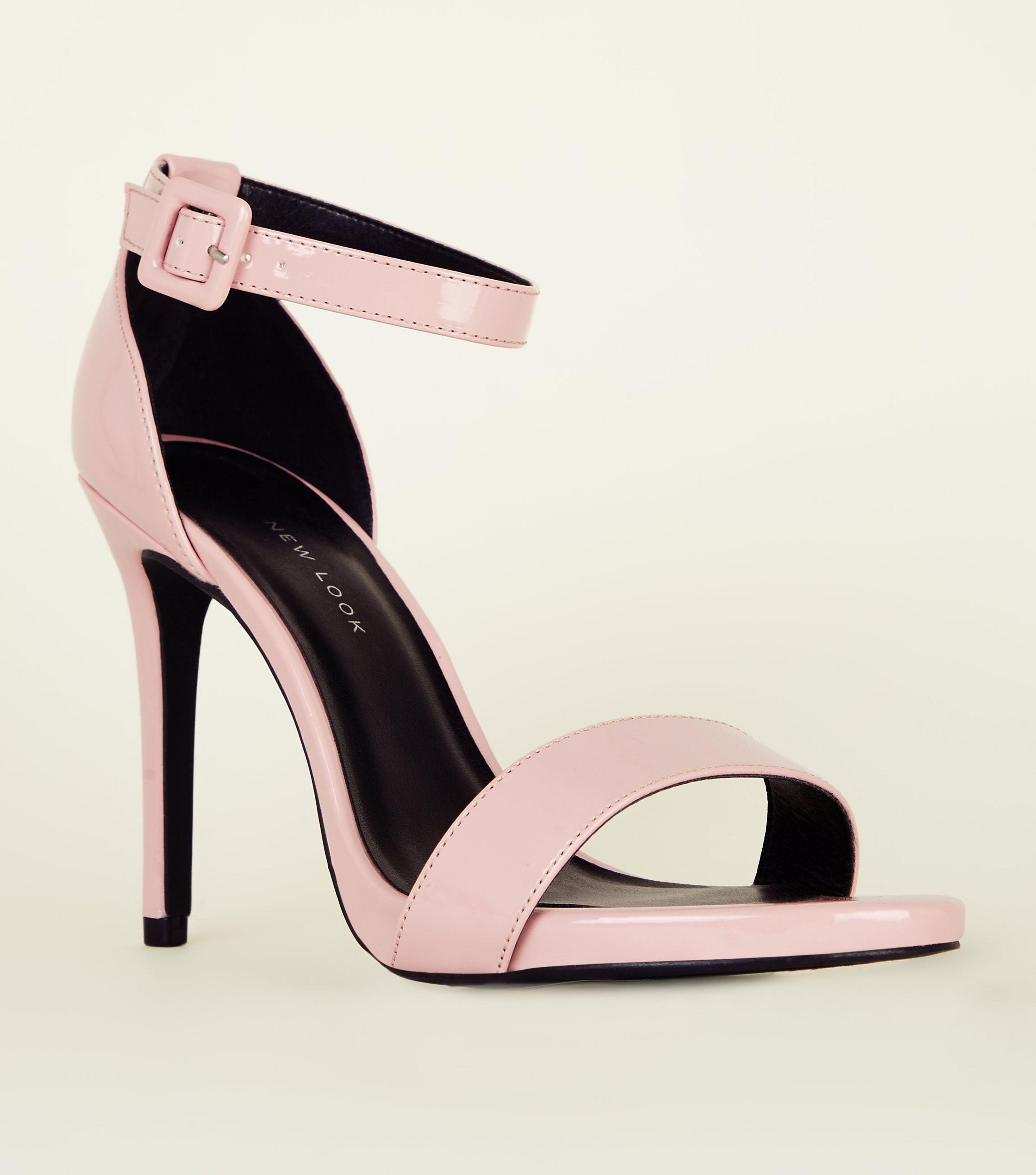 949b95569da New Look Wide Fit Pink Patent Stiletto Heels in Pink - Lyst