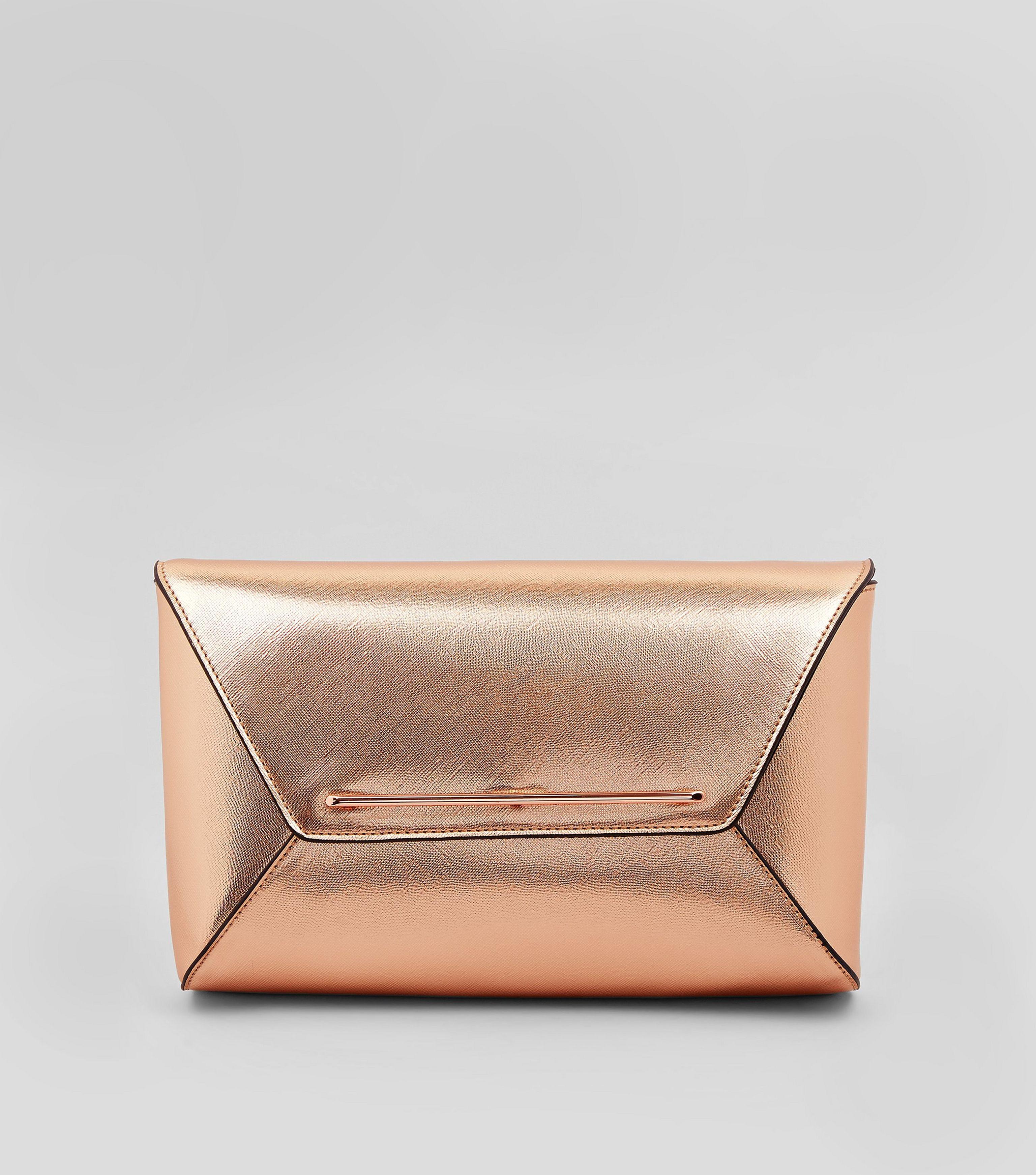 greatvarieties choose original colours and striking Women's Rose Gold Metallic Envelope Clutch Bag