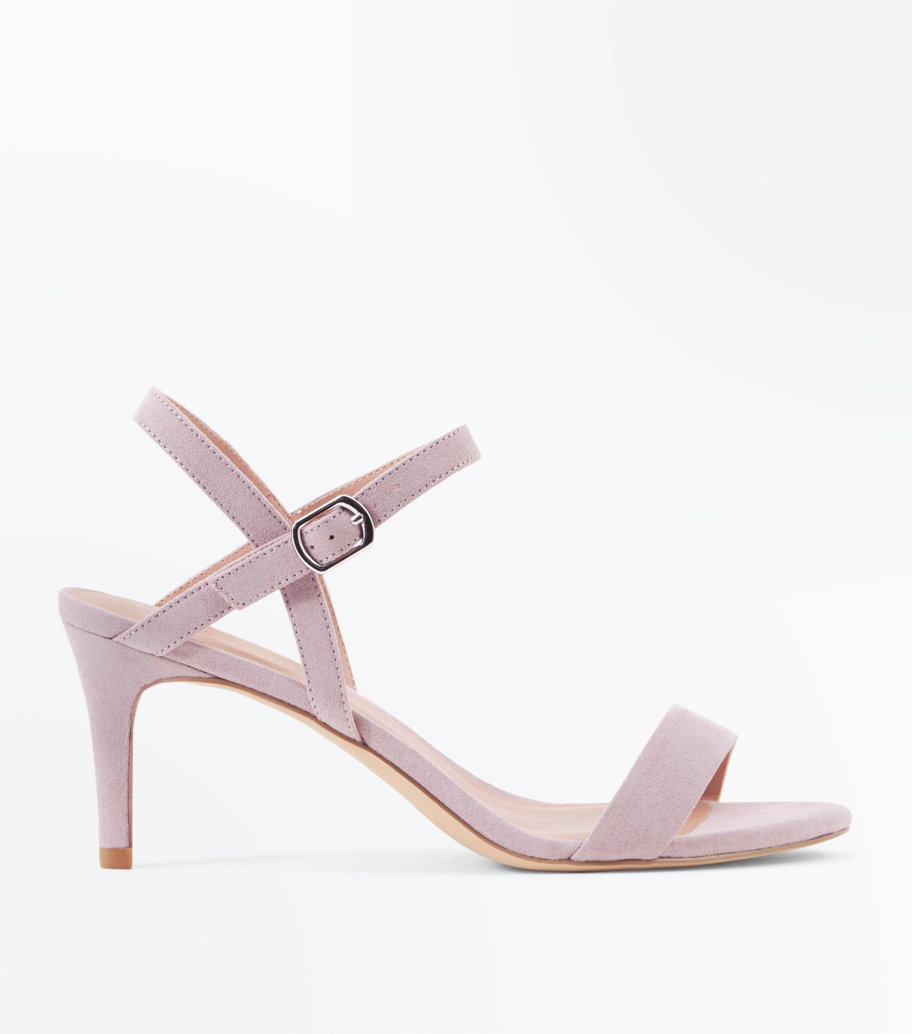 f886a3d6256 New Look Lilac Suedette Low Heeled Sandals in Purple - Lyst