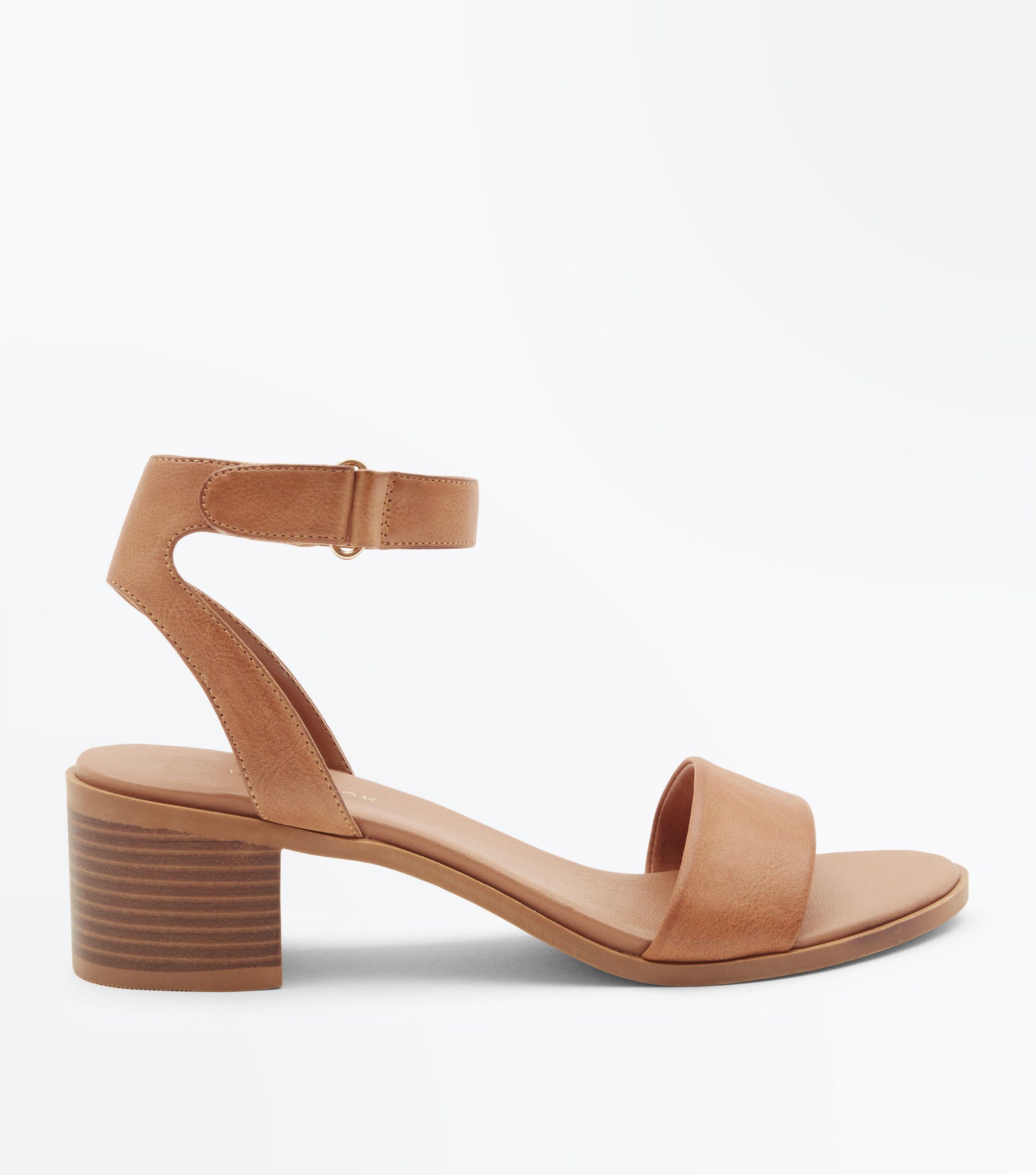 low block heel tan sandals \u003e Up to 79