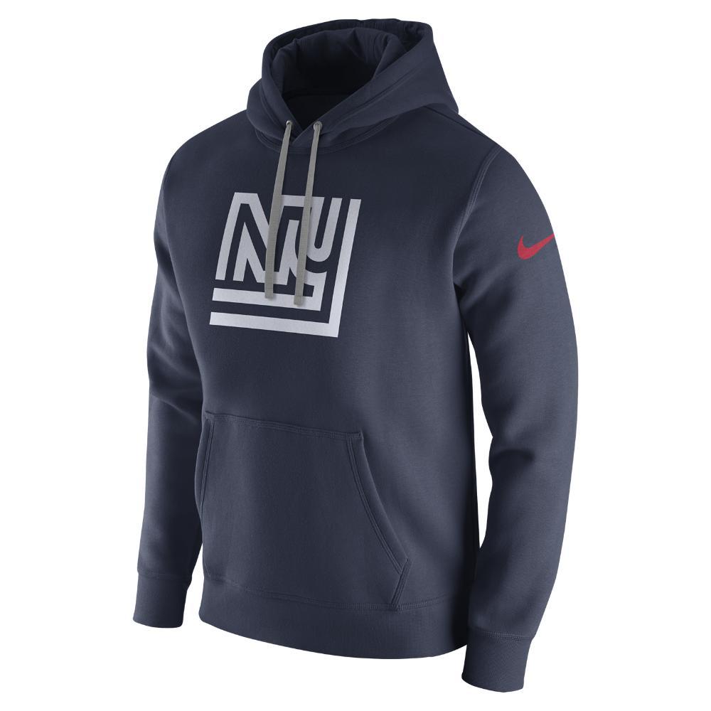 1e607e021ece Lyst - Nike Club (nfl Giants) Men s Fleece Pullover Hoodie in Blue ...