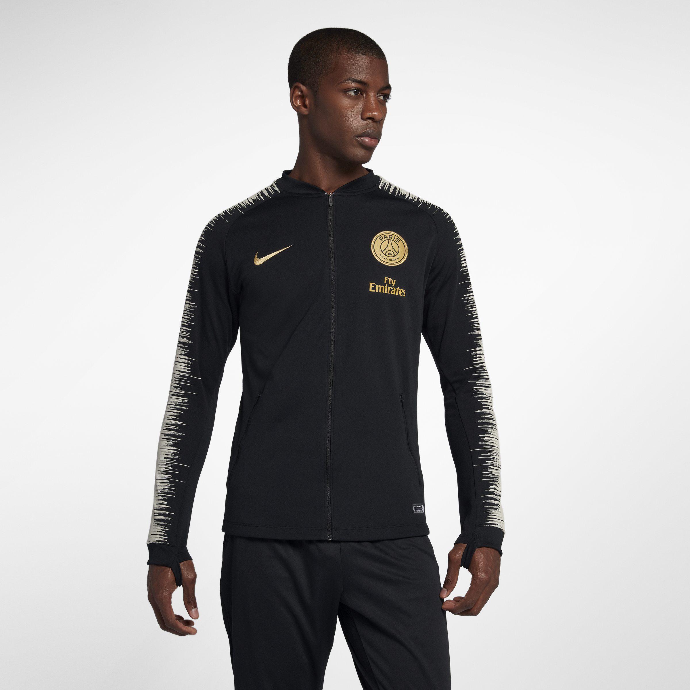 c93929425 Nike Paris Saint-germain Anthem Football Jacket in Black for Men - Lyst