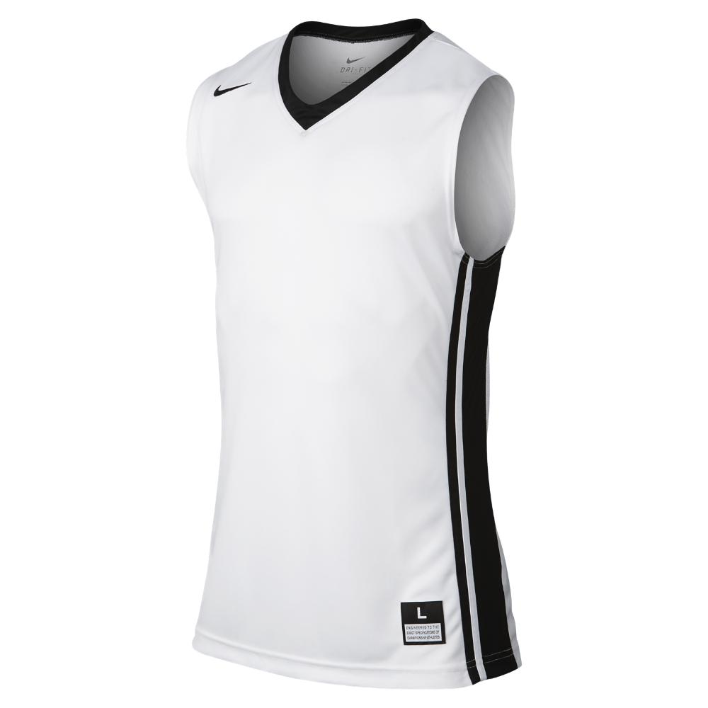 newest collection f05ac c6f8c White National Varsity Stock Men's Basketball Jersey