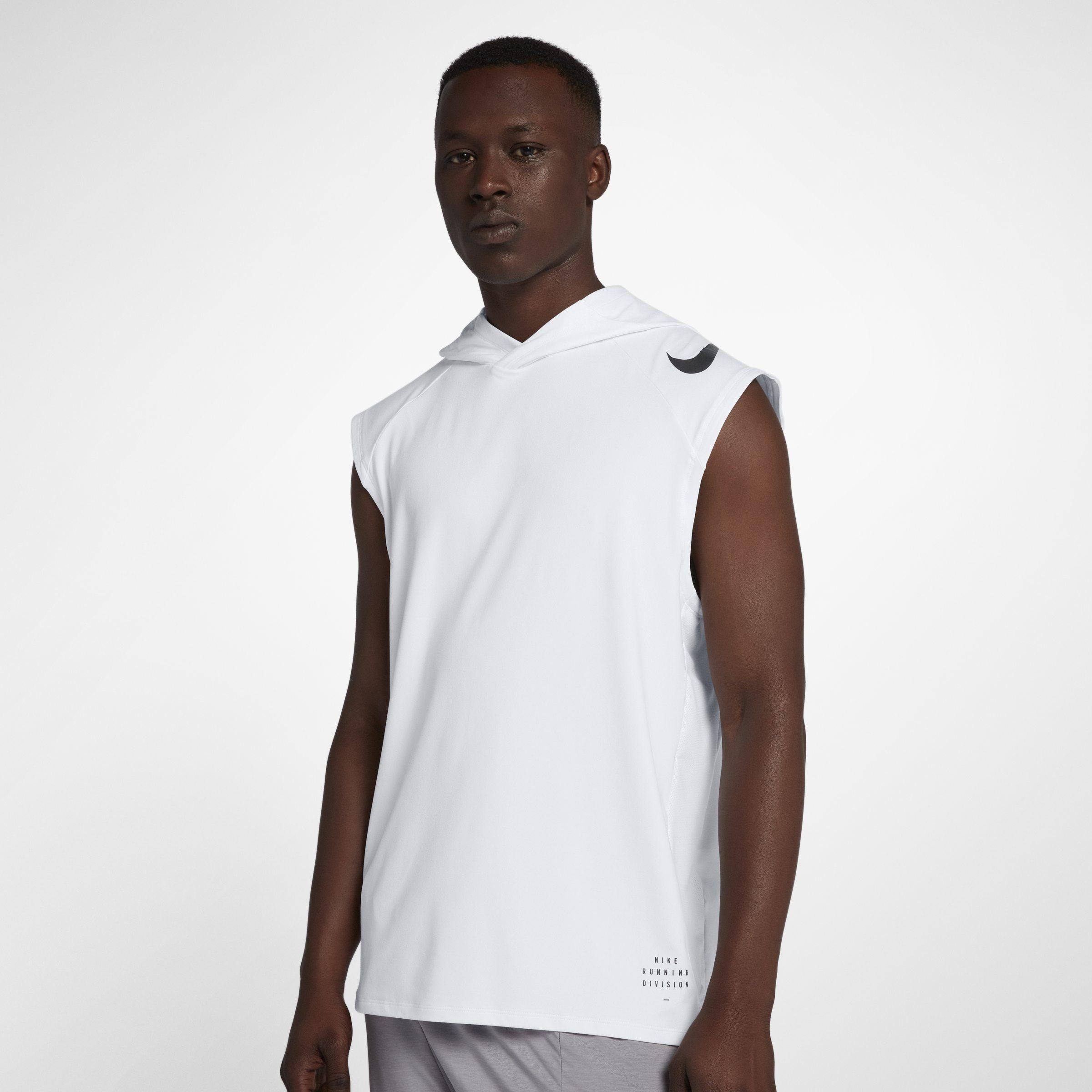 65cafc97e1f7c Nike Run Division Element Sleeveless Running Hoodie in White for Men ...