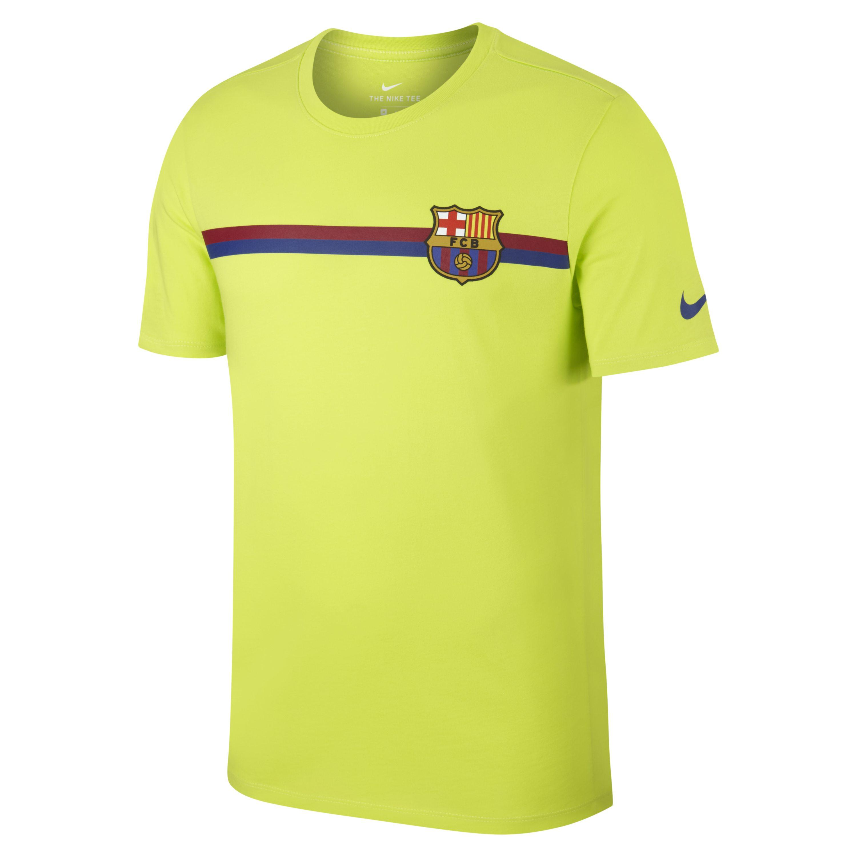 5af7f1e03ad Nike Fc Barcelona Crest T-shirt in Green for Men - Lyst