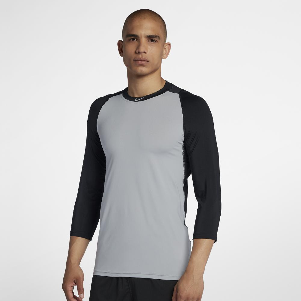 8a422f1d4d83 Lyst - Nike Pro Men s 3 4 Sleeve Baseball Top in Gray for Men