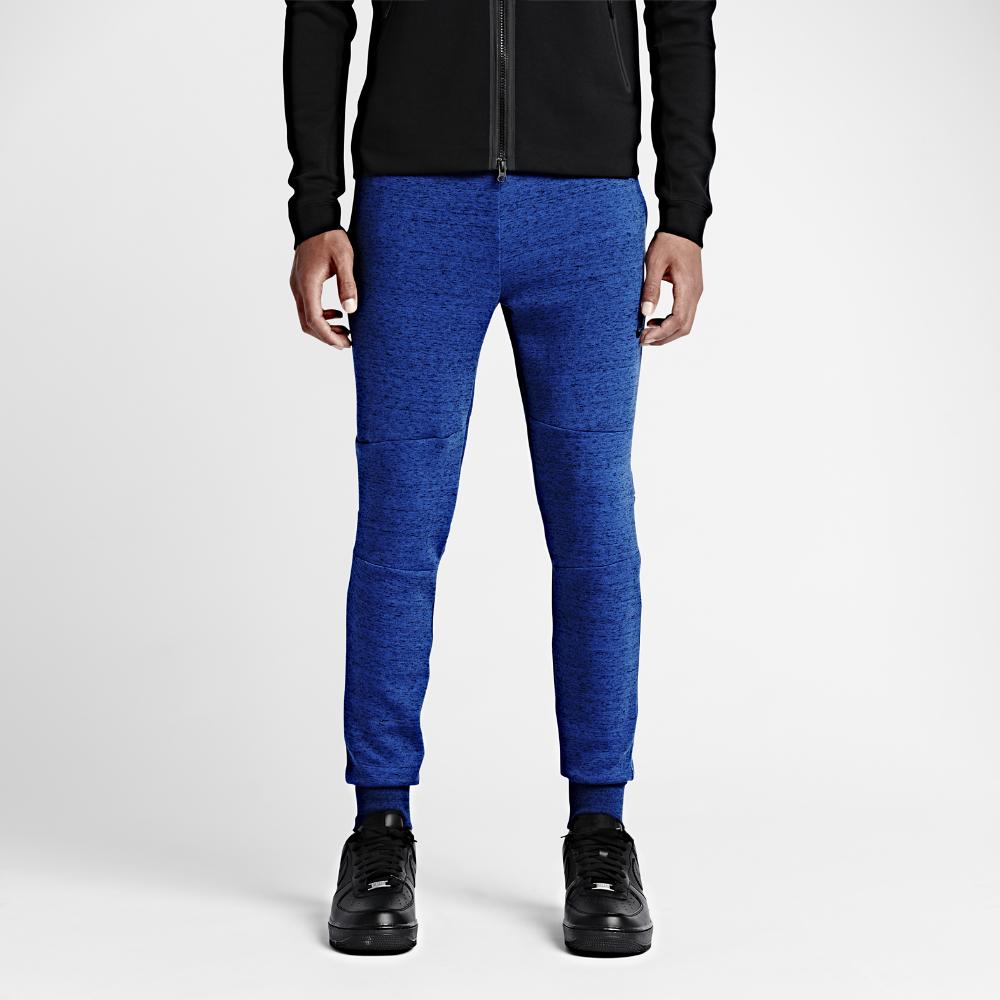nike tech fleece men 39 s pants in black for men lyst. Black Bedroom Furniture Sets. Home Design Ideas