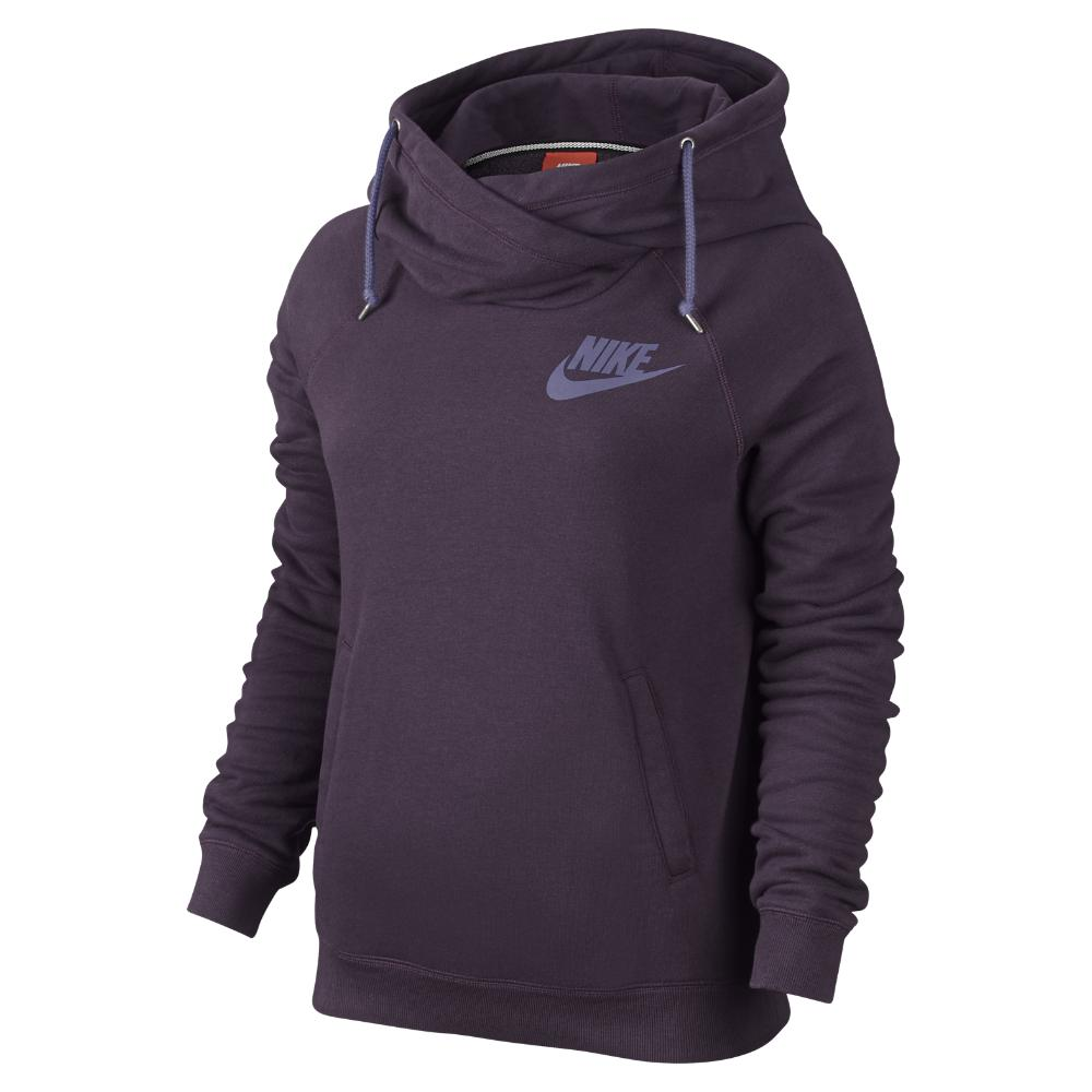 Lyst - Nike Rally Funnel Neck Pullover Women's Hoodie in ...