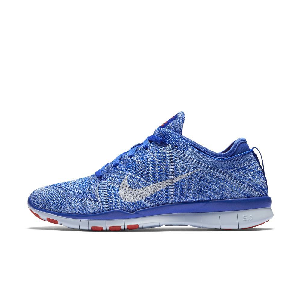 211aa279db4 ... italy nike blue free tr 5 flyknit womens training shoe lyst 1c6f5 926fa
