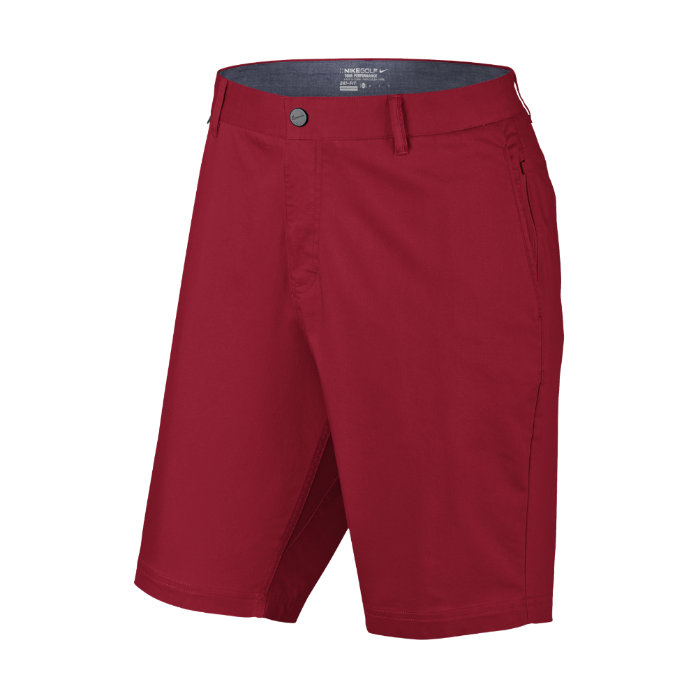 Lyst Nike Modern Fit Washed Men S 10 Quot Golf Shorts In Red For Men