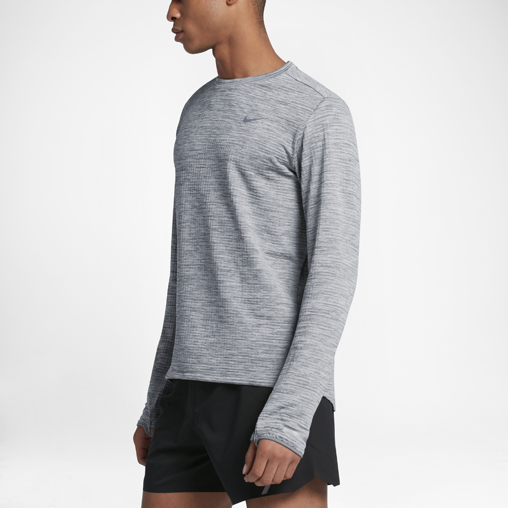 5d00e0c3 Nike Therma Sphere Element Men's Long Sleeve Running Top in Gray for ...