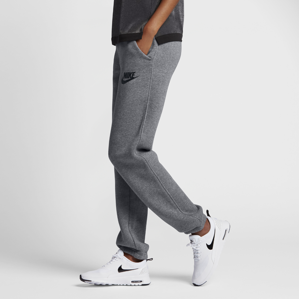 Unique Nike Sportswear Jersey Cuffed Training Pants Women  Dark Grey White