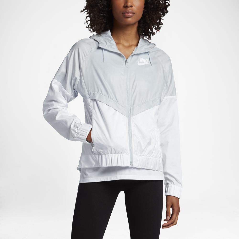 nike sportswear windrunner in white lyst. Black Bedroom Furniture Sets. Home Design Ideas