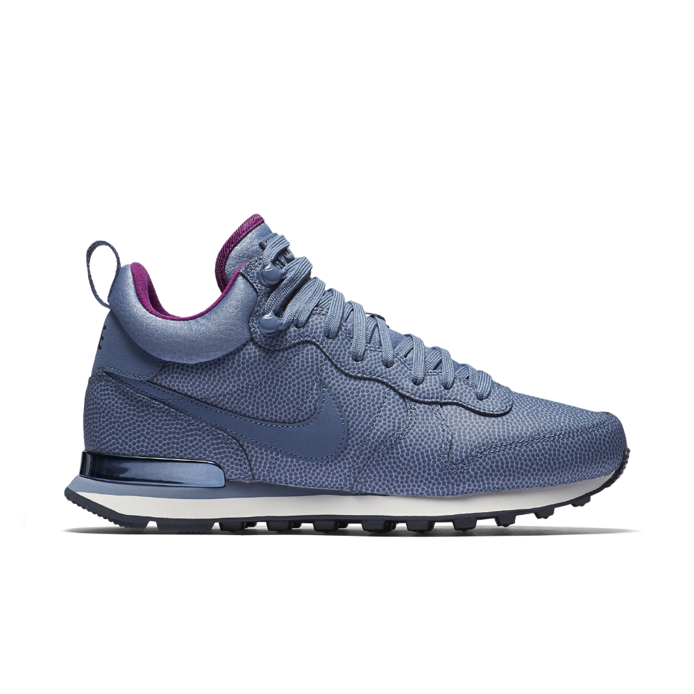 premium selection e8317 fd11a ... Nike Internationalist Mid Leather Womens Shoe in Blue Lyst ...
