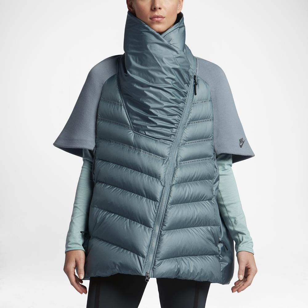 nike sportswear tech fleece aeroloft women 39 s down cape in. Black Bedroom Furniture Sets. Home Design Ideas