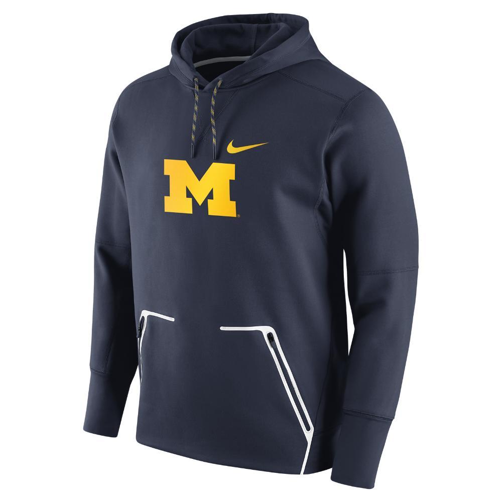nike college vapor speed fleece michigan men 39 s hoodie in. Black Bedroom Furniture Sets. Home Design Ideas