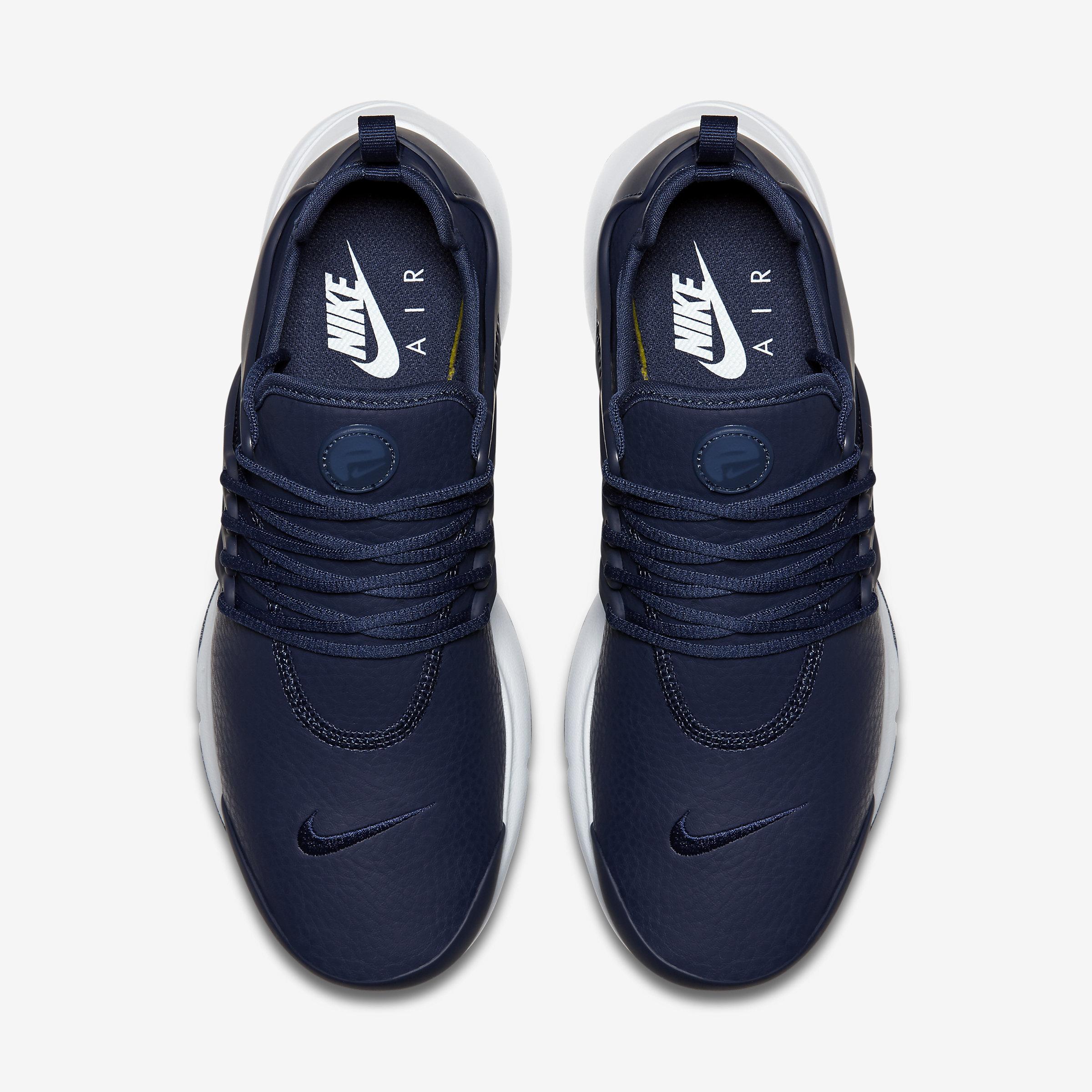 Nike Leather Air Presto Premium in Midnight Navy,Midnight Navy (Blue) for Men