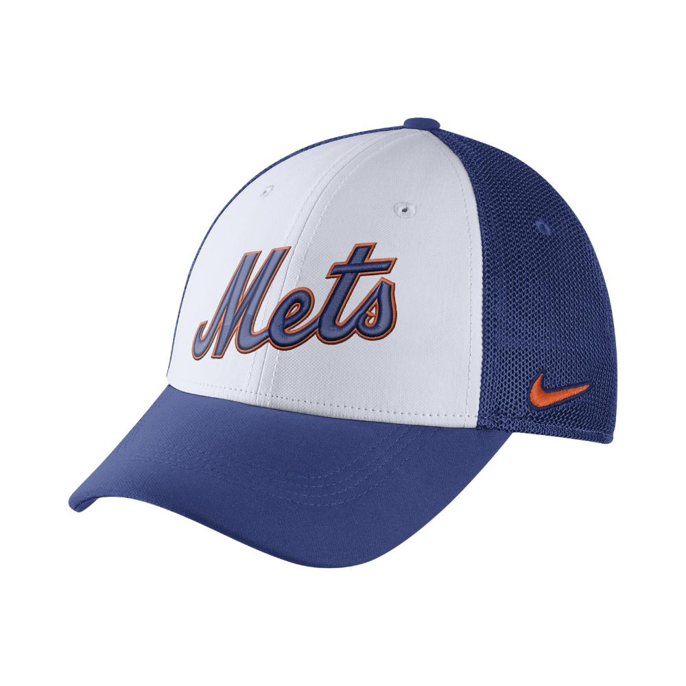 7e1570b52af Lyst - Nike Mesh Back Swoosh Flex (mlb Mets) Fitted Hat in White for Men