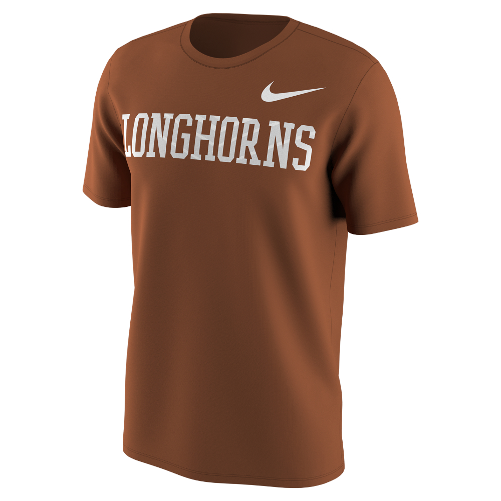 Lyst nike college texas men 39 s t shirt in brown for men for T shirts for college guys