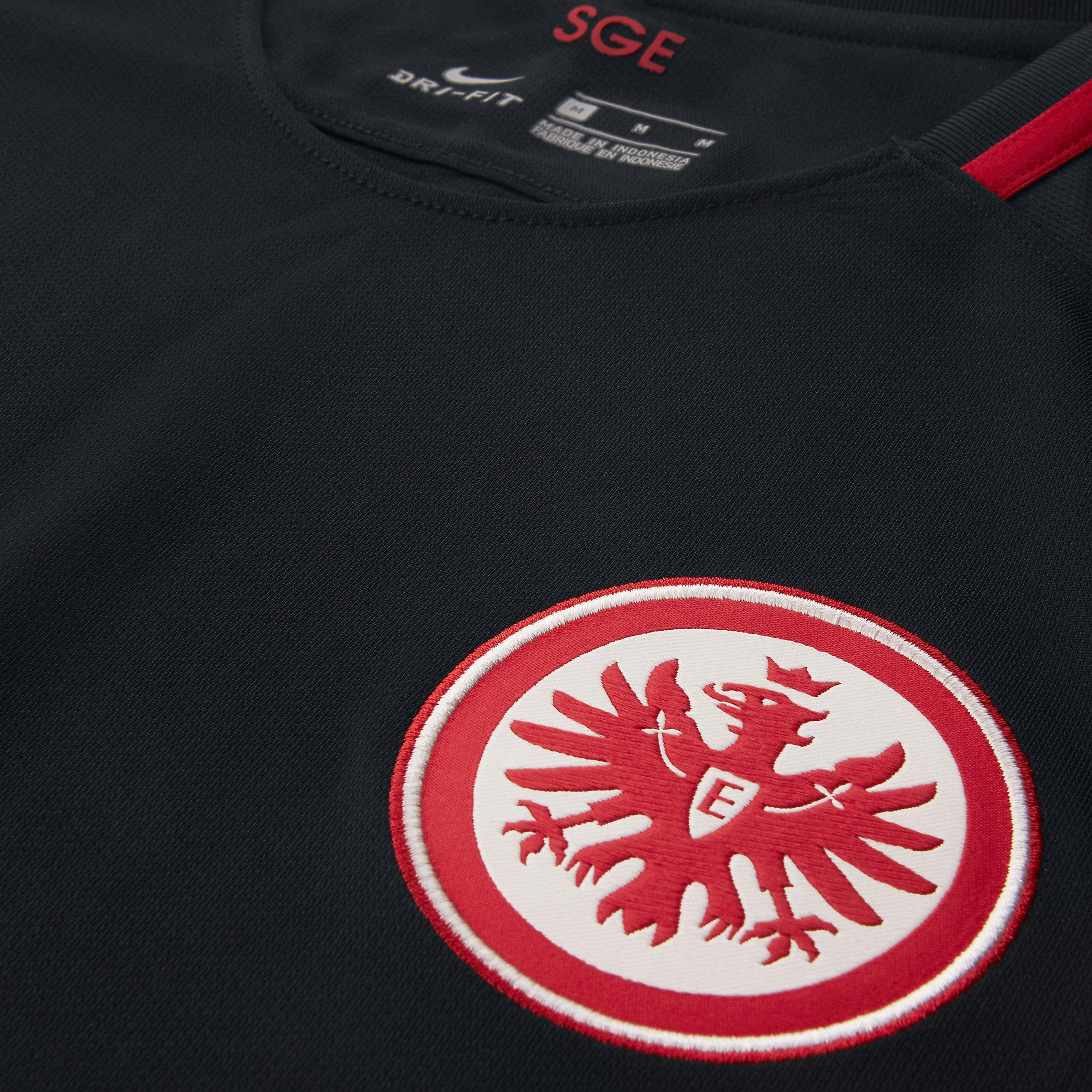 Nike Synthetic 2017/18 Eintracht Frankfurt Stadium Away in Black,University Red (Black) for Men