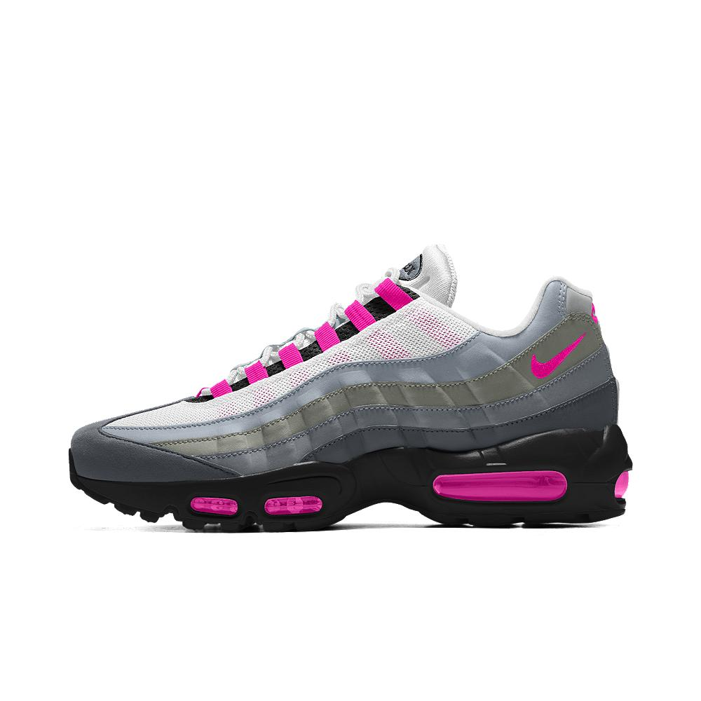 nike women s pink air max 95 id 200 from nike buy now please pick a