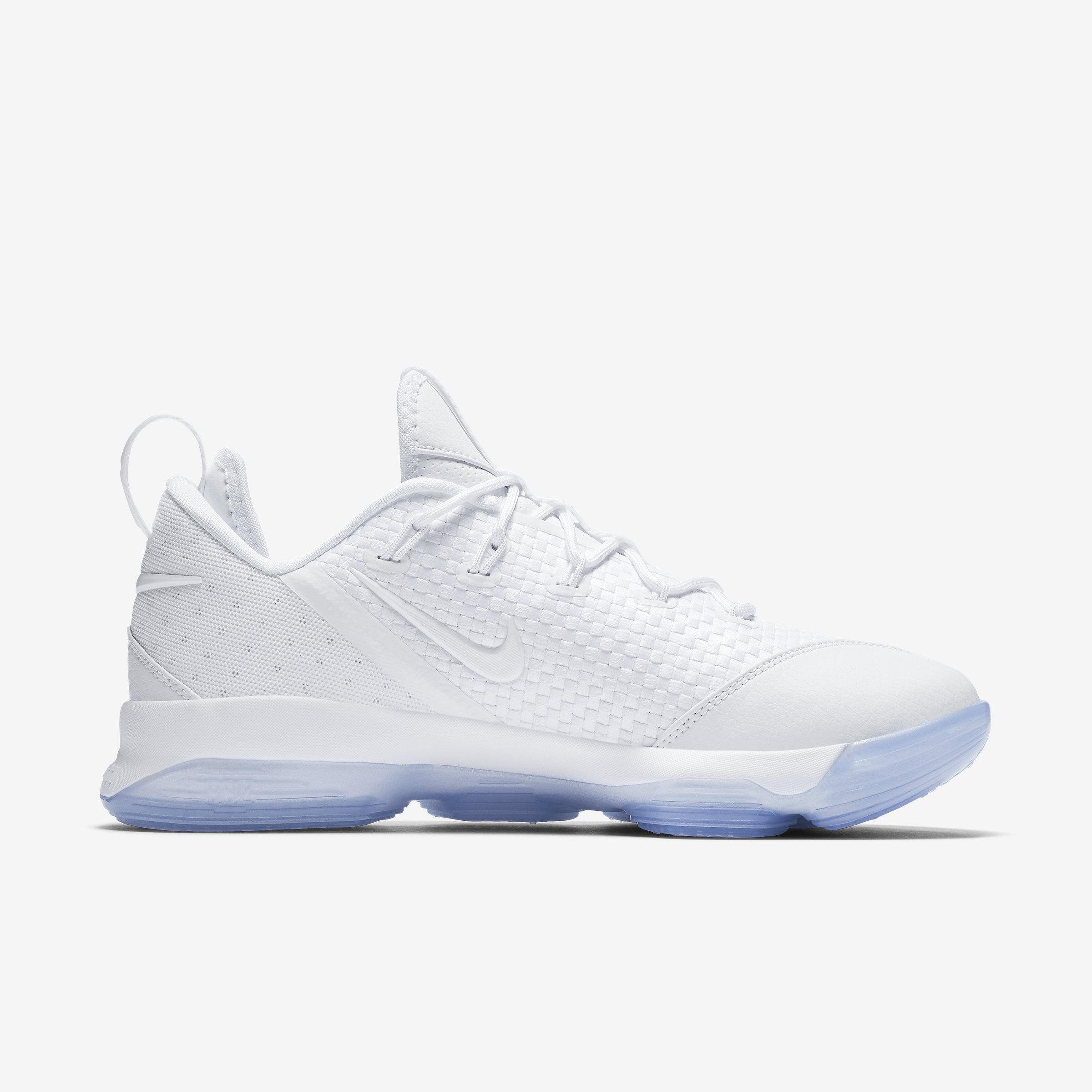Nike Leather Lebron Xiv Low in White,Ice,White (White) for Men