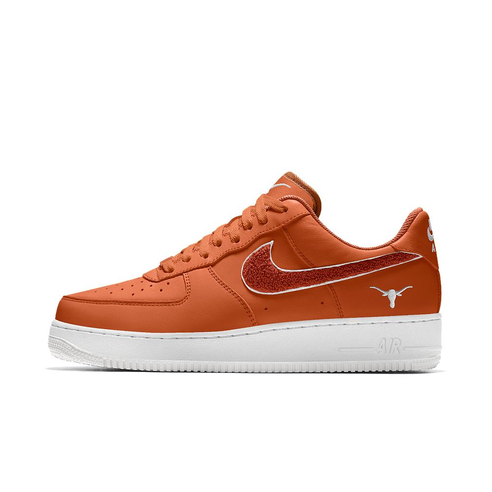nike air 1 low college id s shoe in orange for