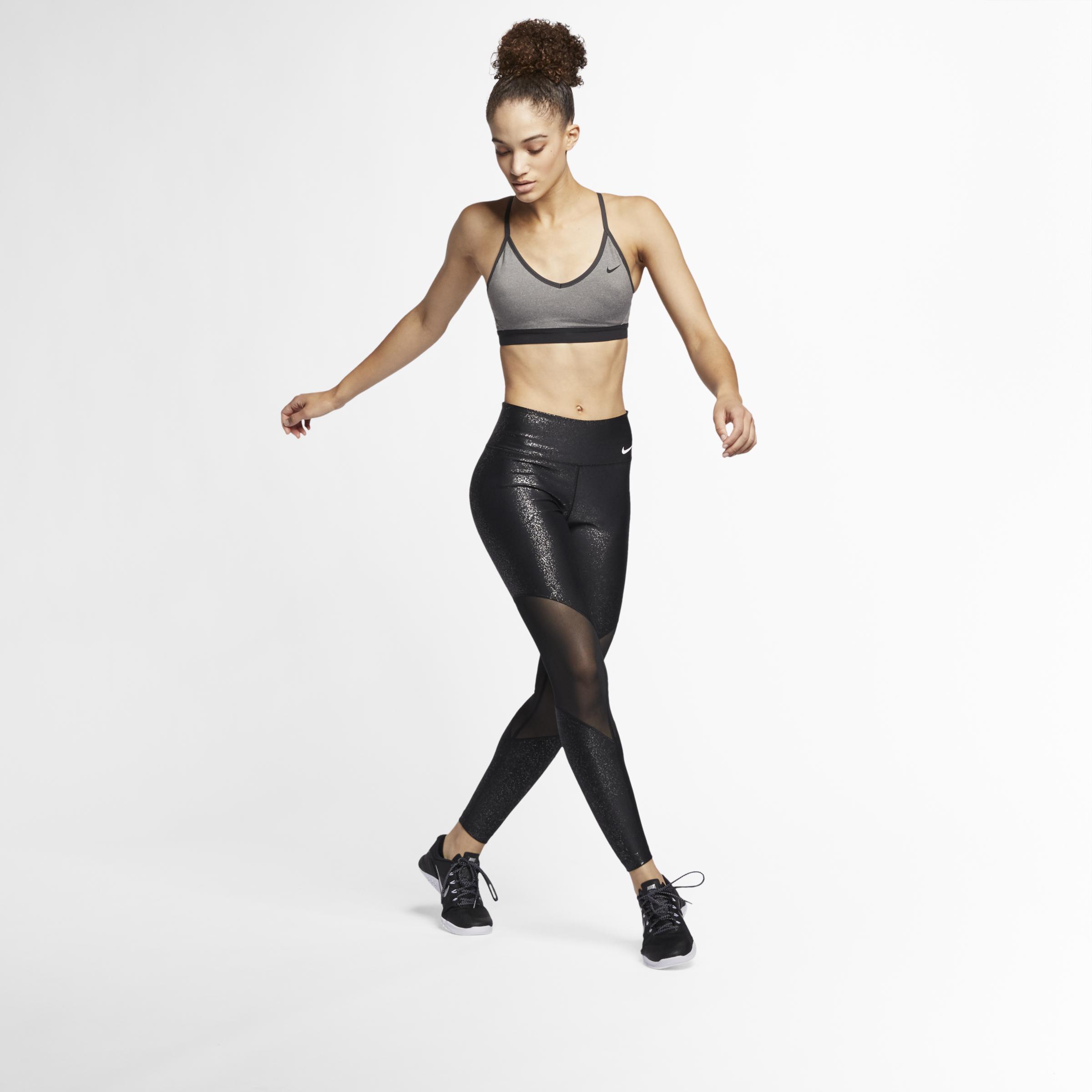 Nike Black Power glitzernde Trainings Tights für Damen